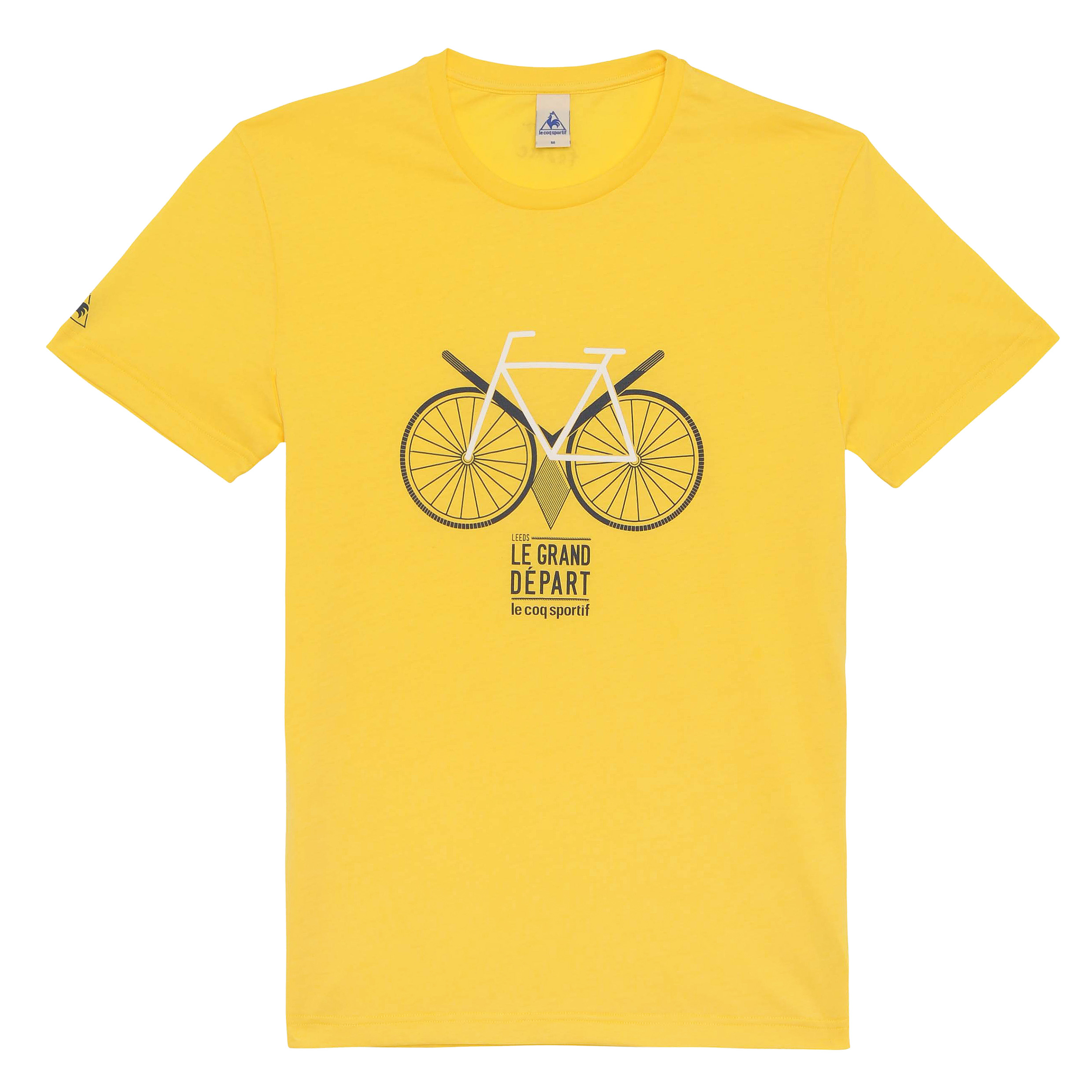 Le Tour de France Le Coq Sportif No 13 T-Shirt - Primrose Yellow
