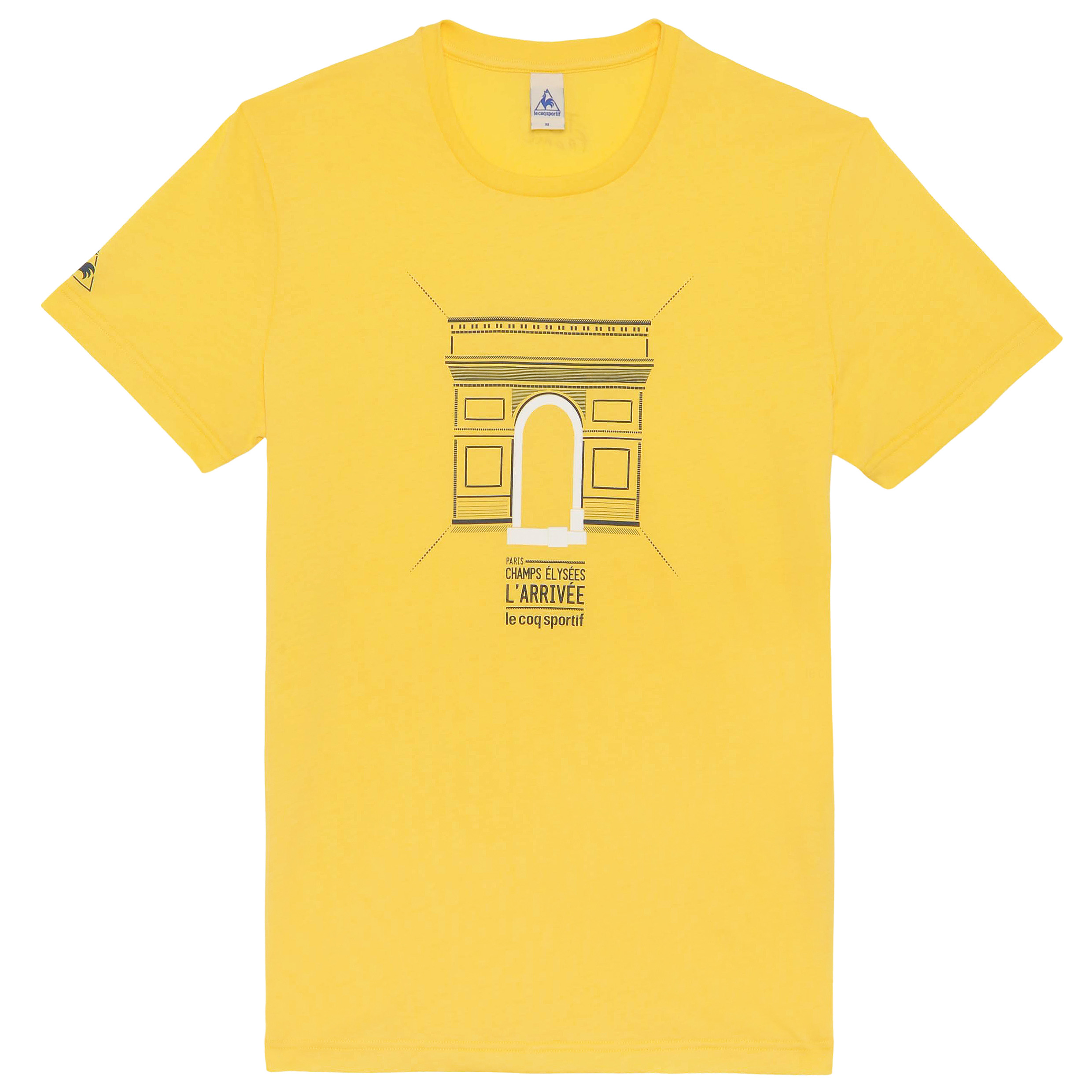 Le Tour de France Le Coq Sportif No 15 T-Shirt - Primrose Yellow