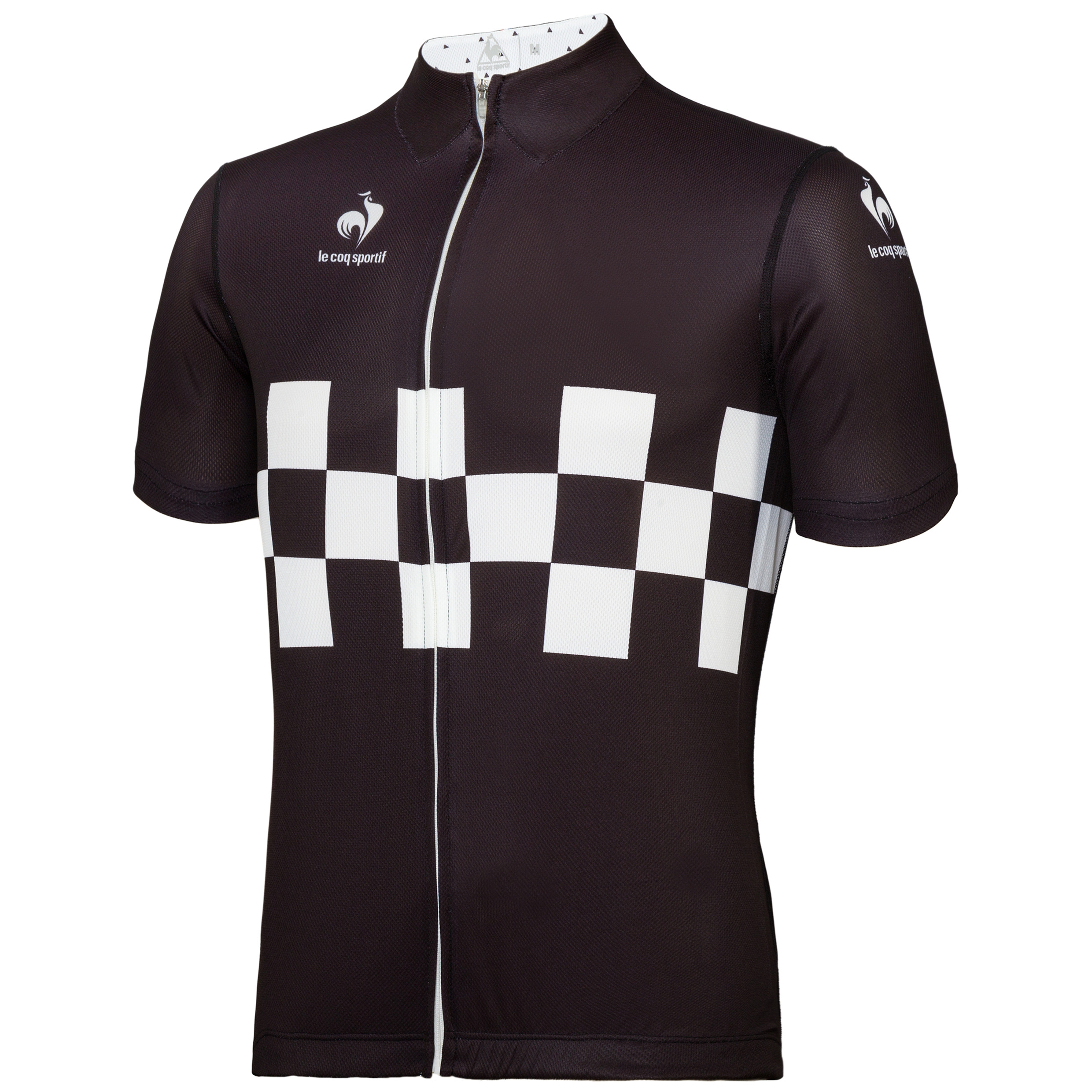 Le Coq Sportif Performance Checkered Jersey - Black