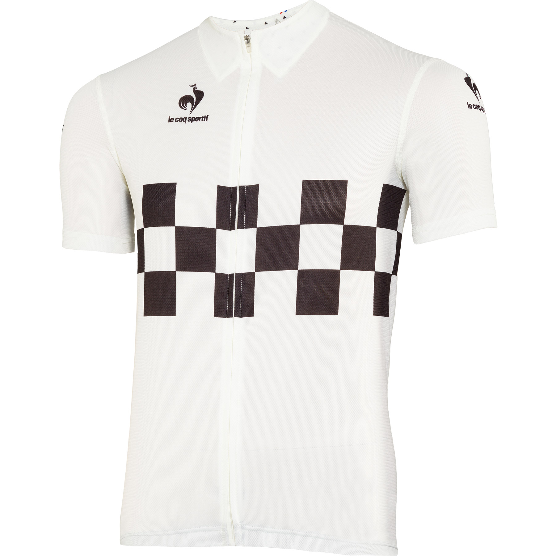 Le Coq Sportif Performance Checkered Jersey - Marshmallow
