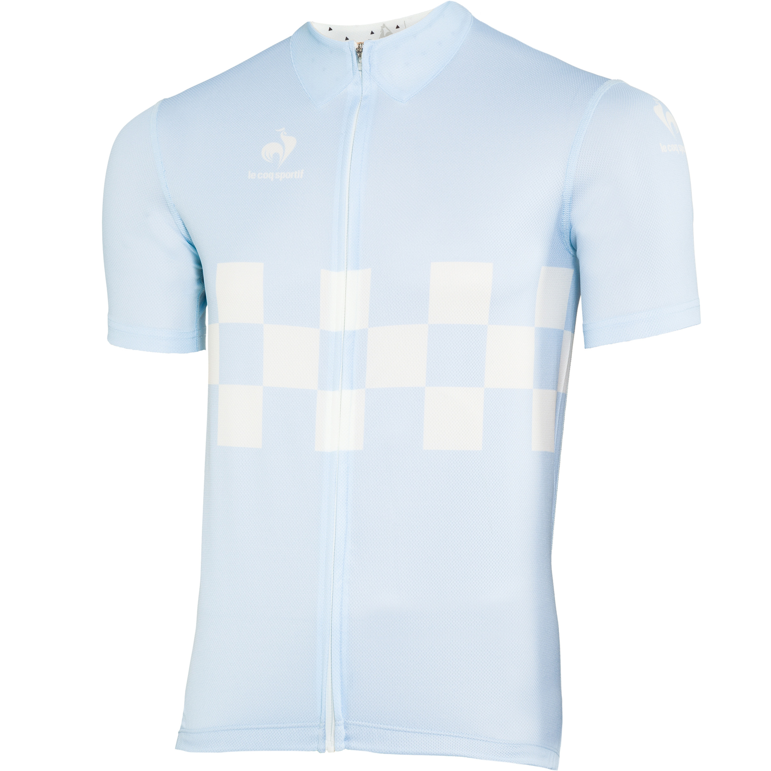 Le Coq Sportif Performance Checkered Jersey - Aquamarine