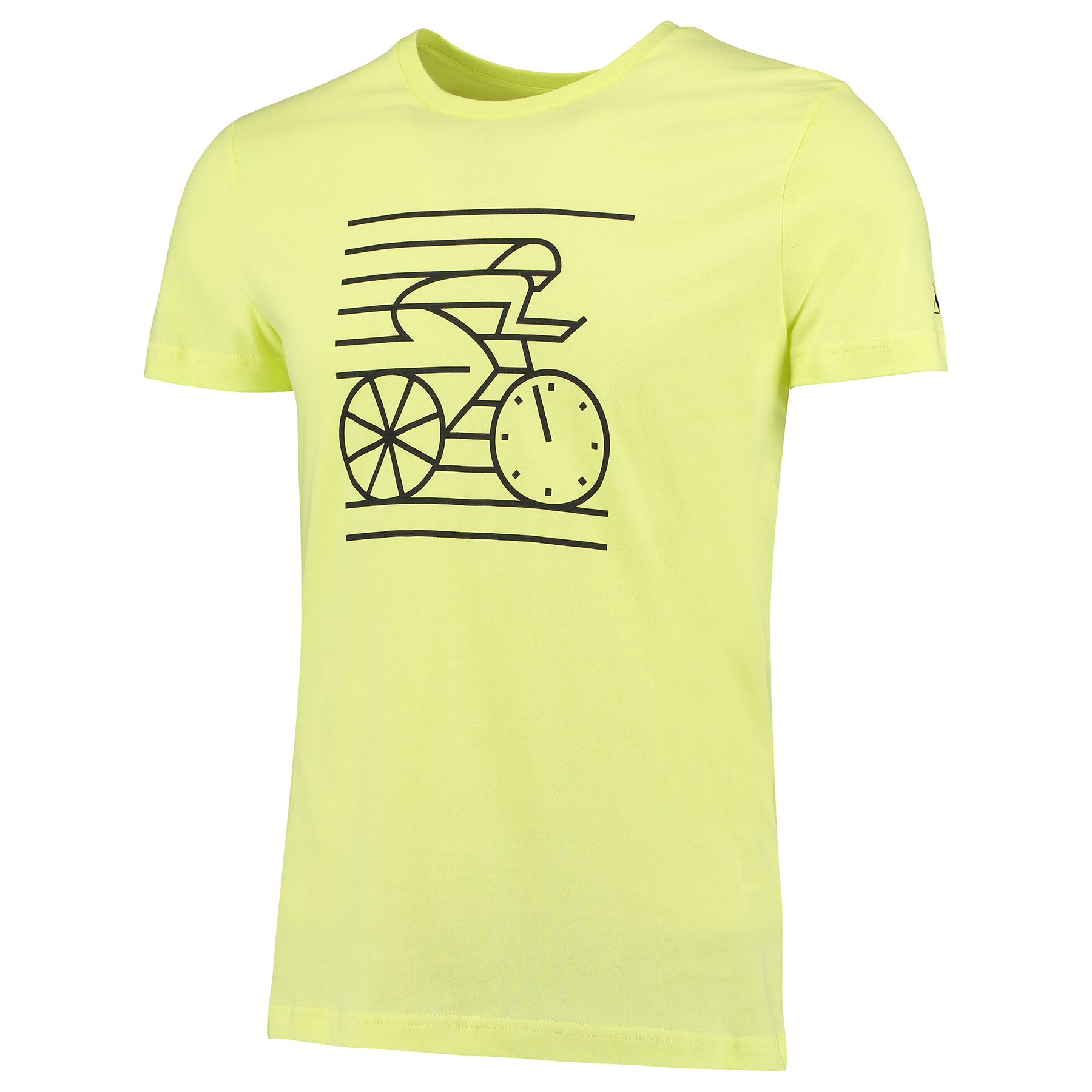Le Coq Sportif Cyclist Stripes T-Shirt - Sunny Lime