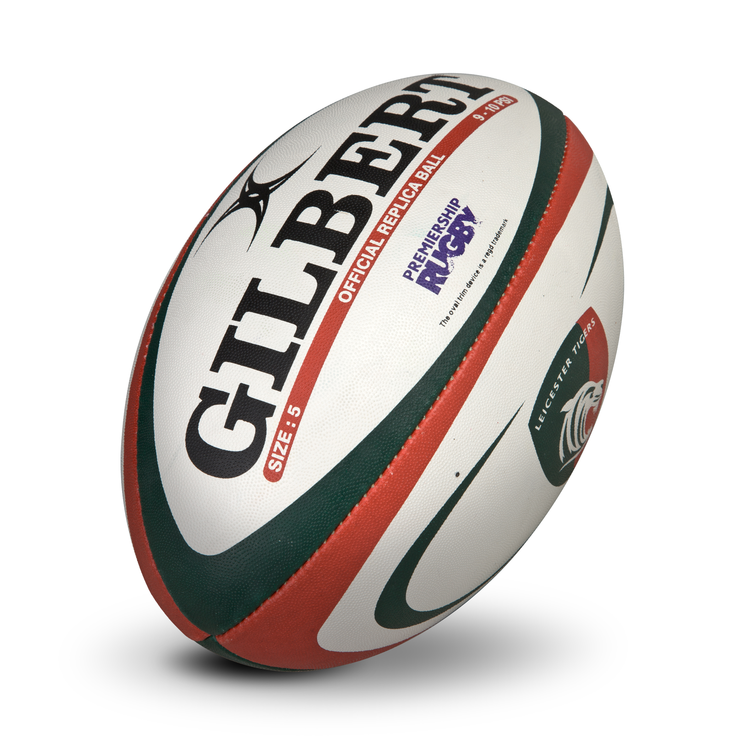 Leicester Tigers Gilbert Official Replica Ball - Size 5