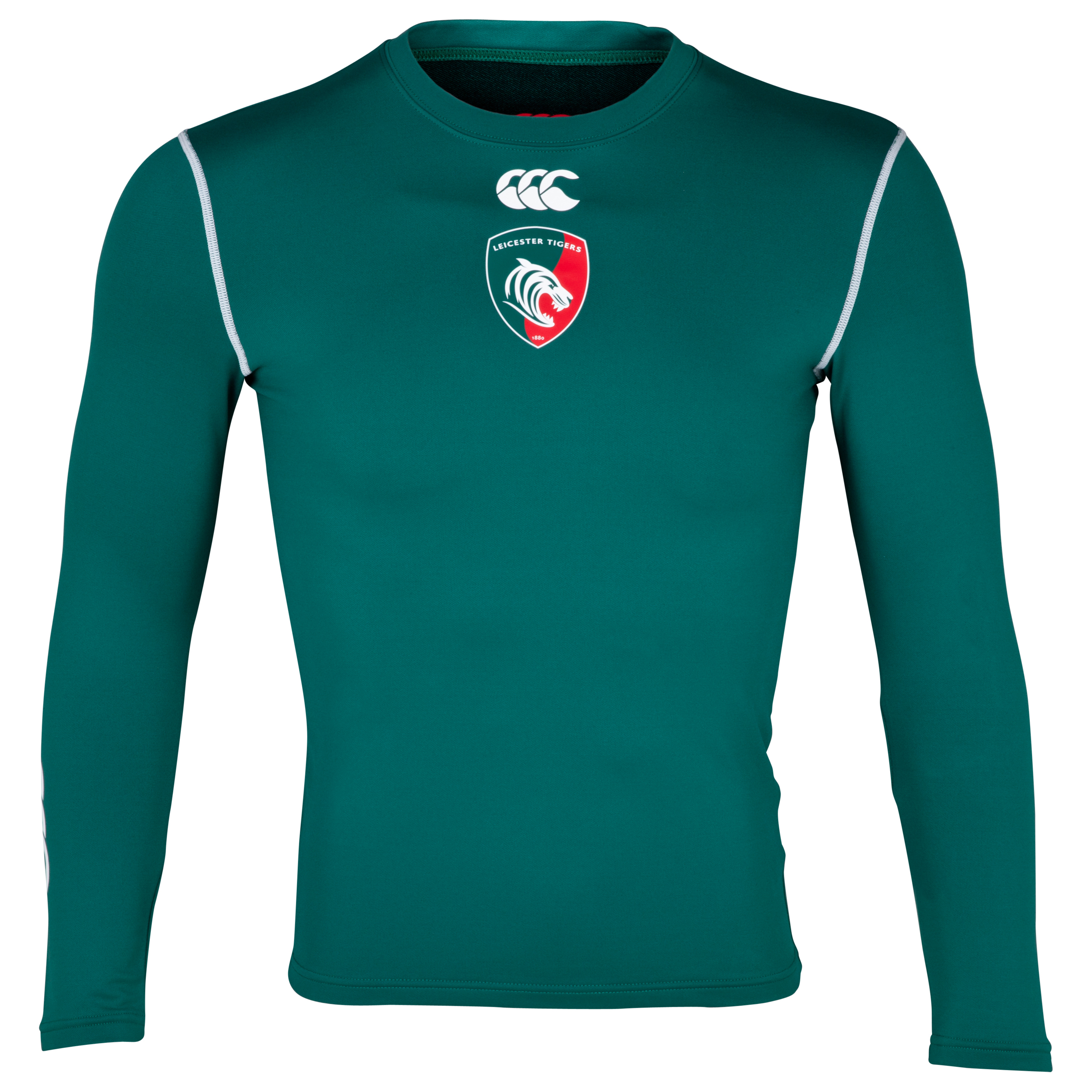 Leicester Tigers Home Cold Baselayer 2013/14 - Long Sleeved Dk Green