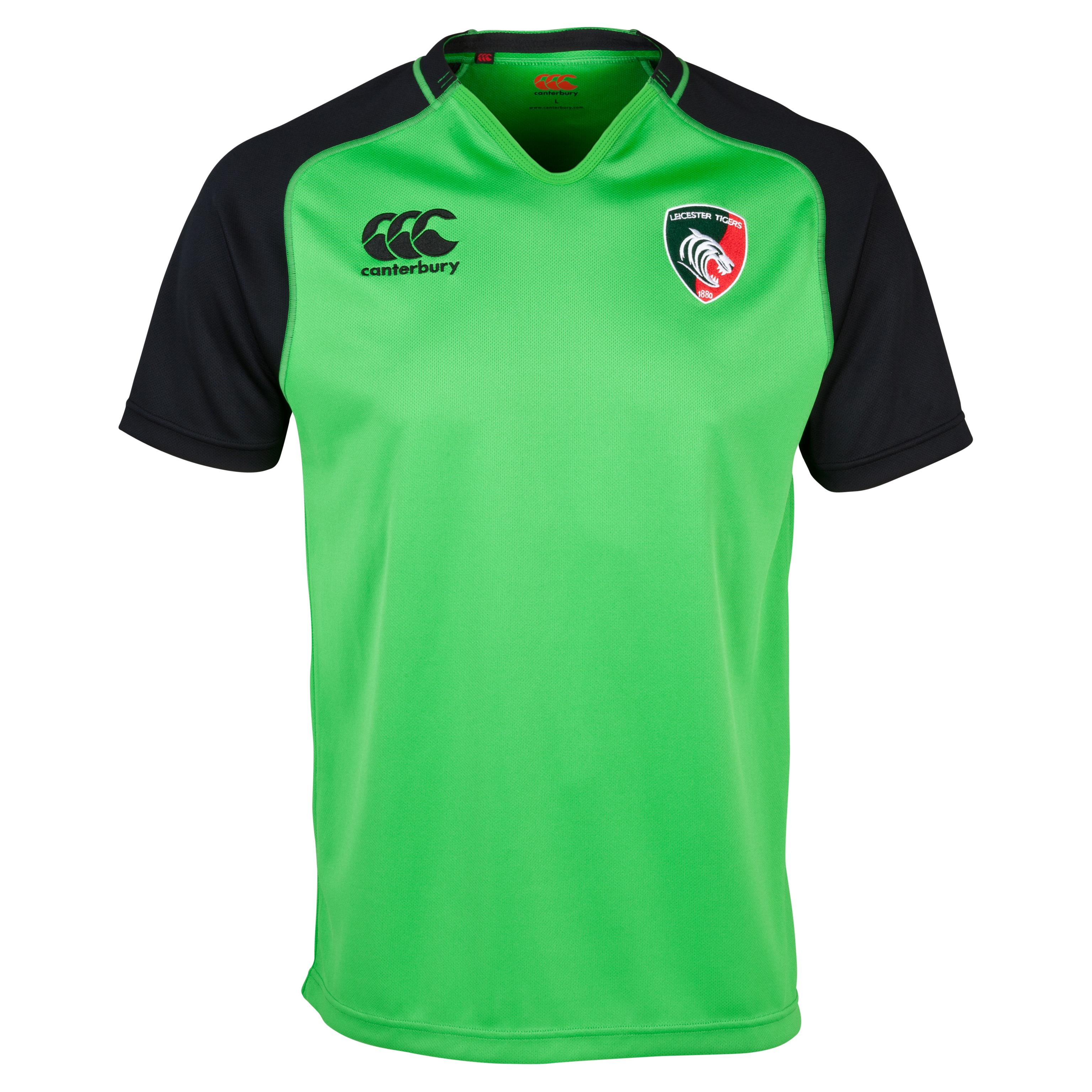 Leicester Tigers Training Pro Jersey - Junior Green
