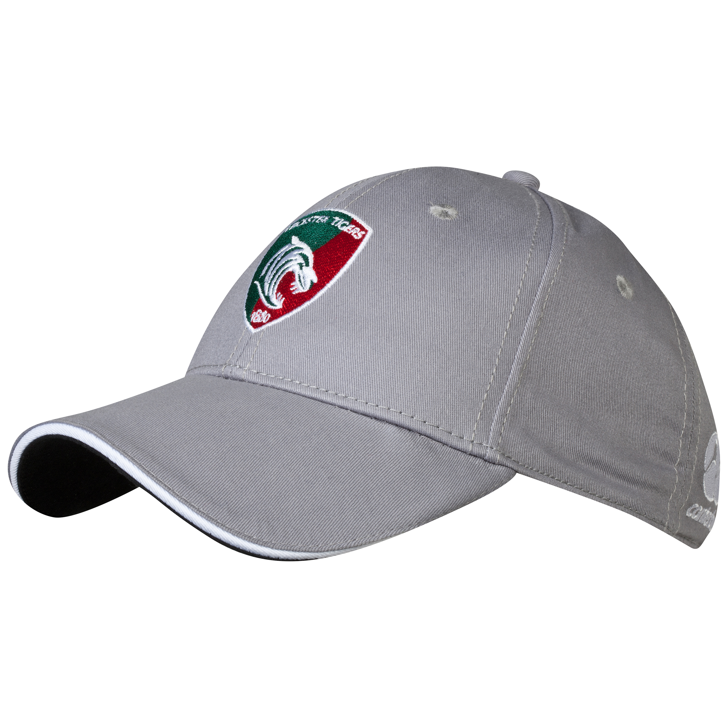 Leicester Tigers Cotton Drill Graphic Cap - fitted Grey