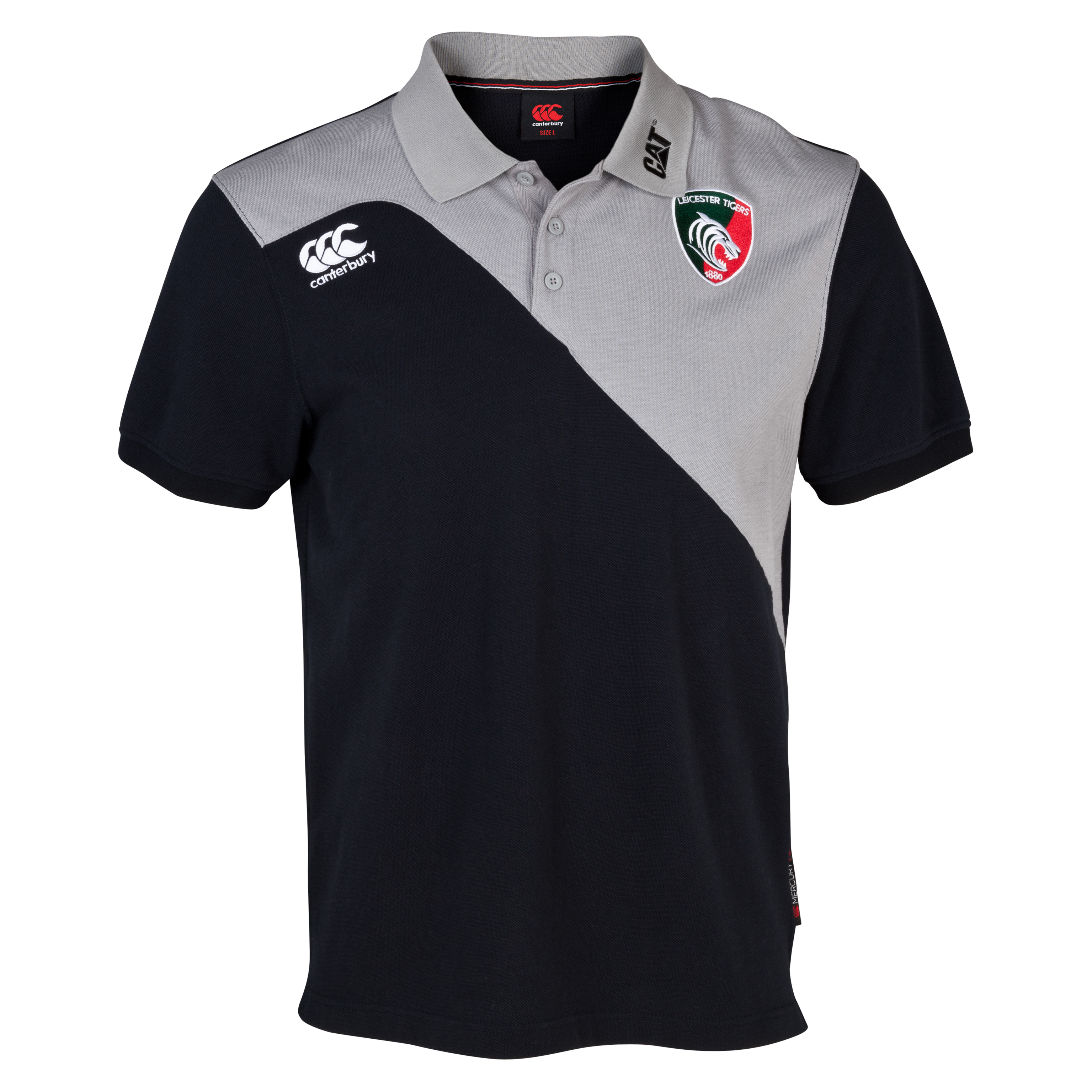 Leicester Tigers Training Cotton Polo Grey