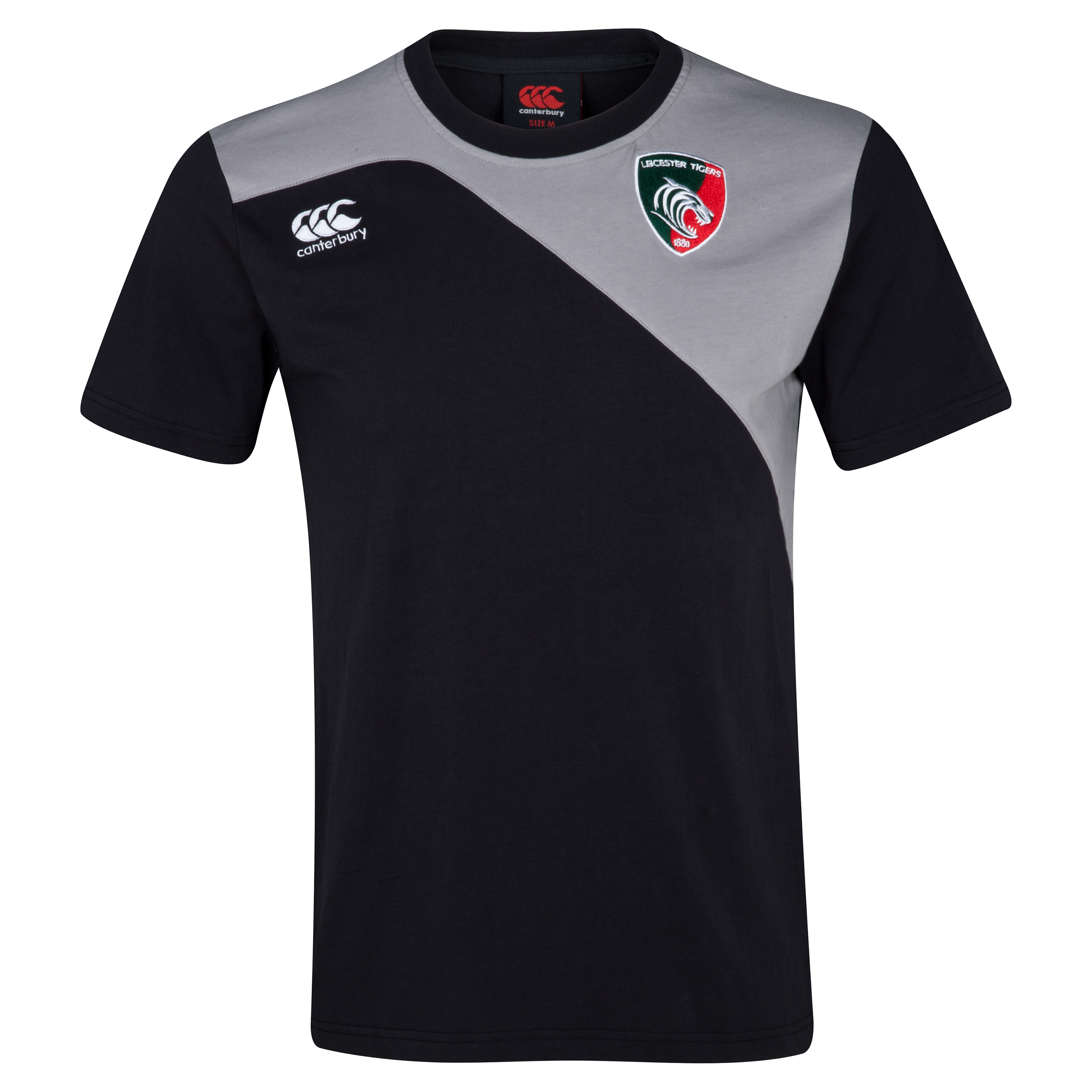 Leicester Tigers Core Cotton T-Shirt Grey
