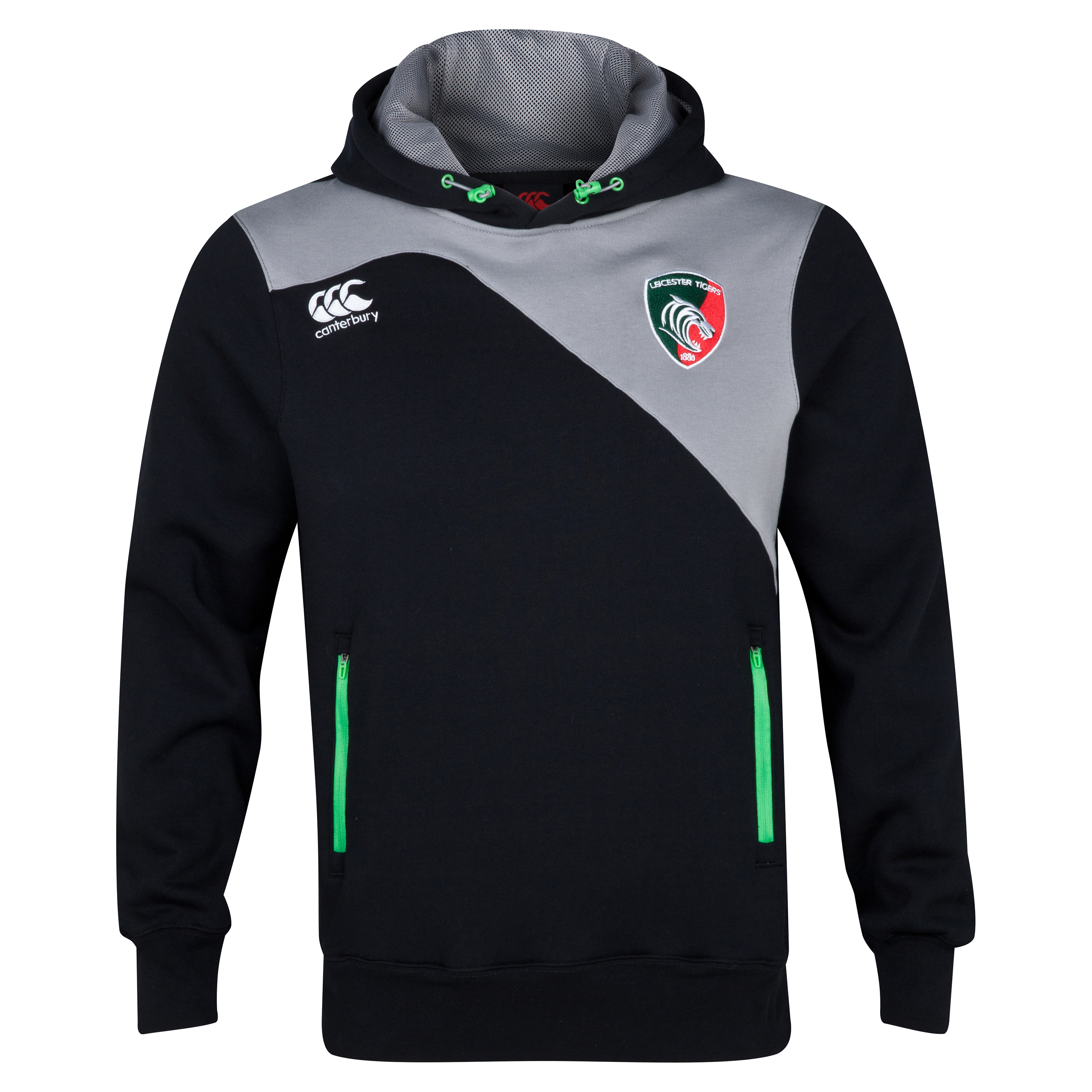Leicester Tigers Tech Hoody Grey