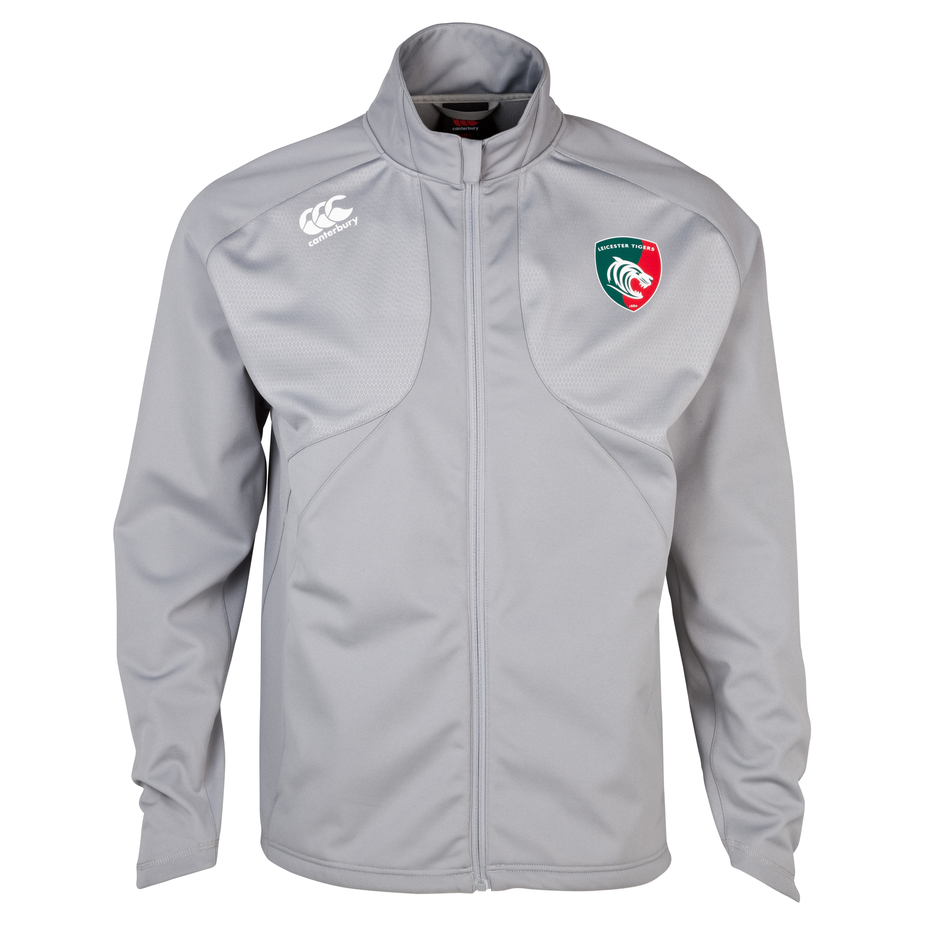 Leicester Tigers Mercury Pro Soft Shell Training Jacket Lt Grey