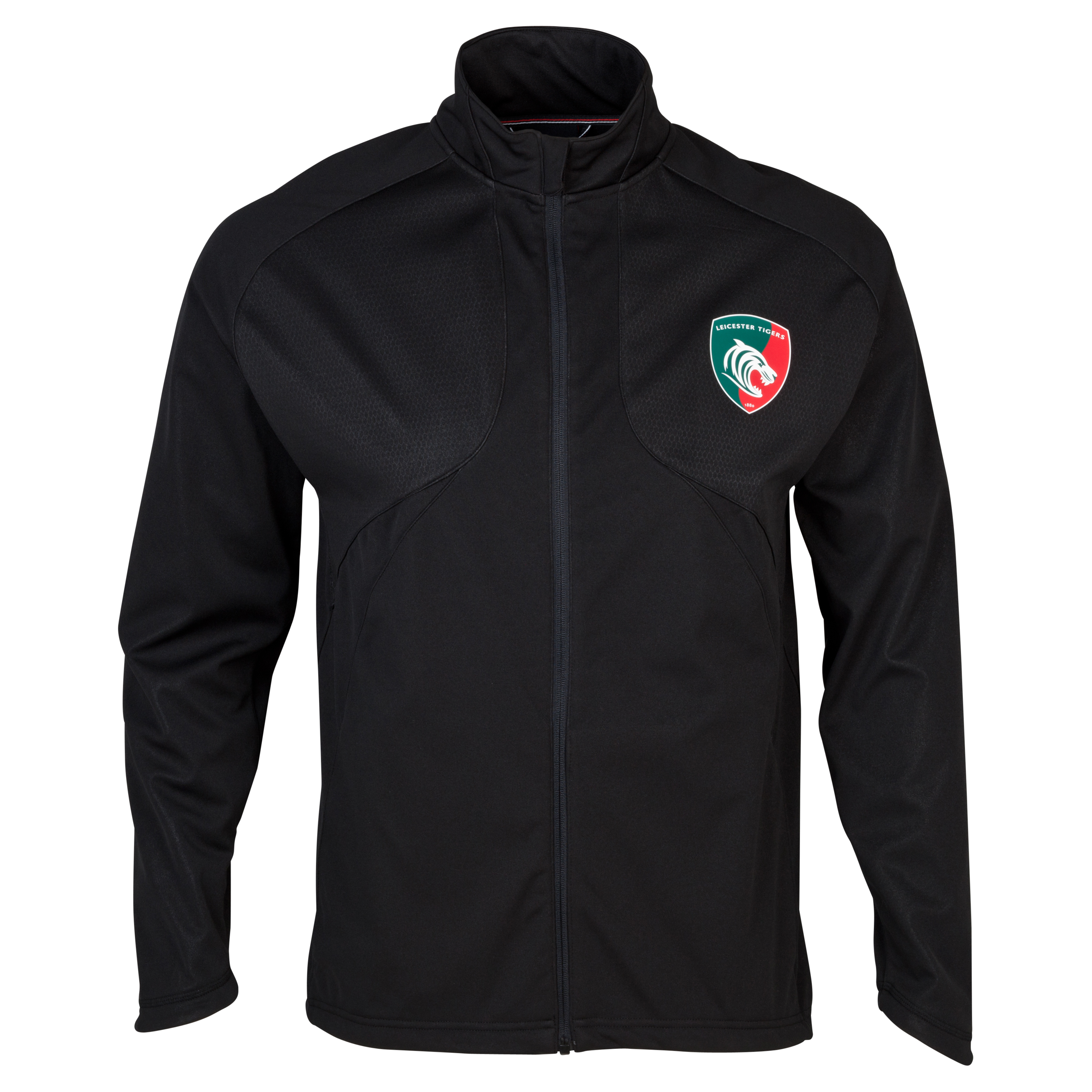 Leicester Tigers Mercury Pro Soft Shell Training Jacket Grey