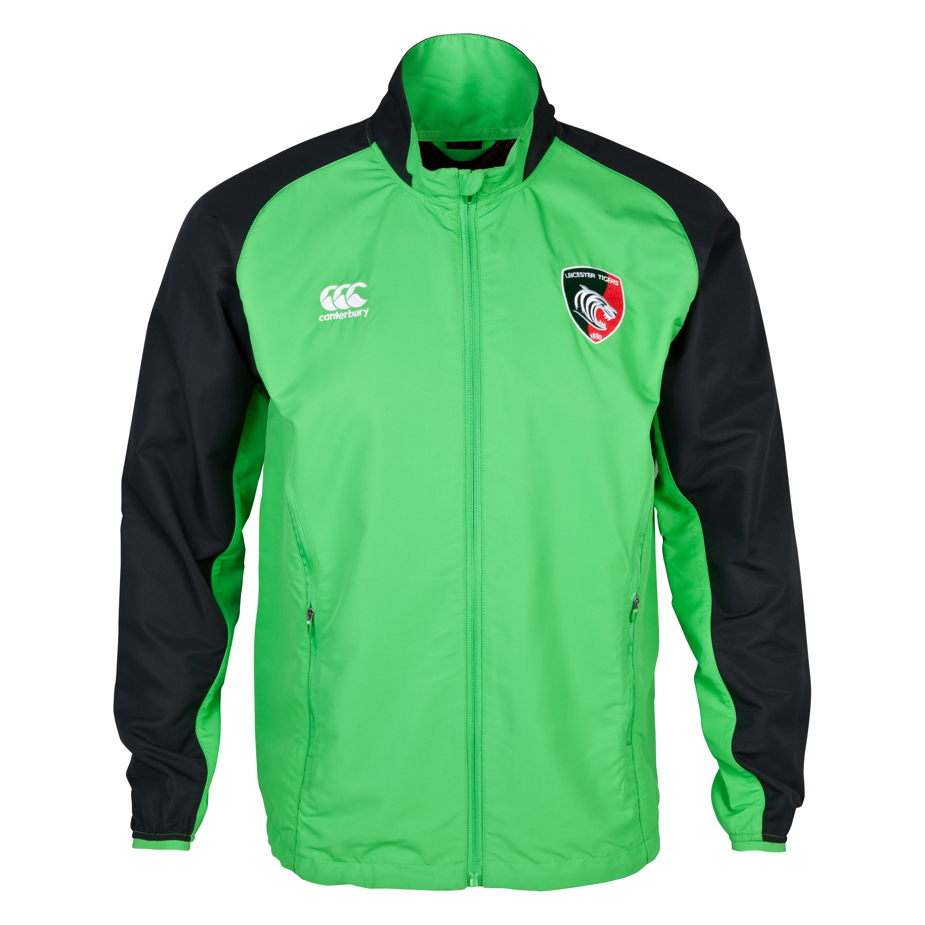 Leicester Tigers Mercury Pro Tech Presentation Jacket Green