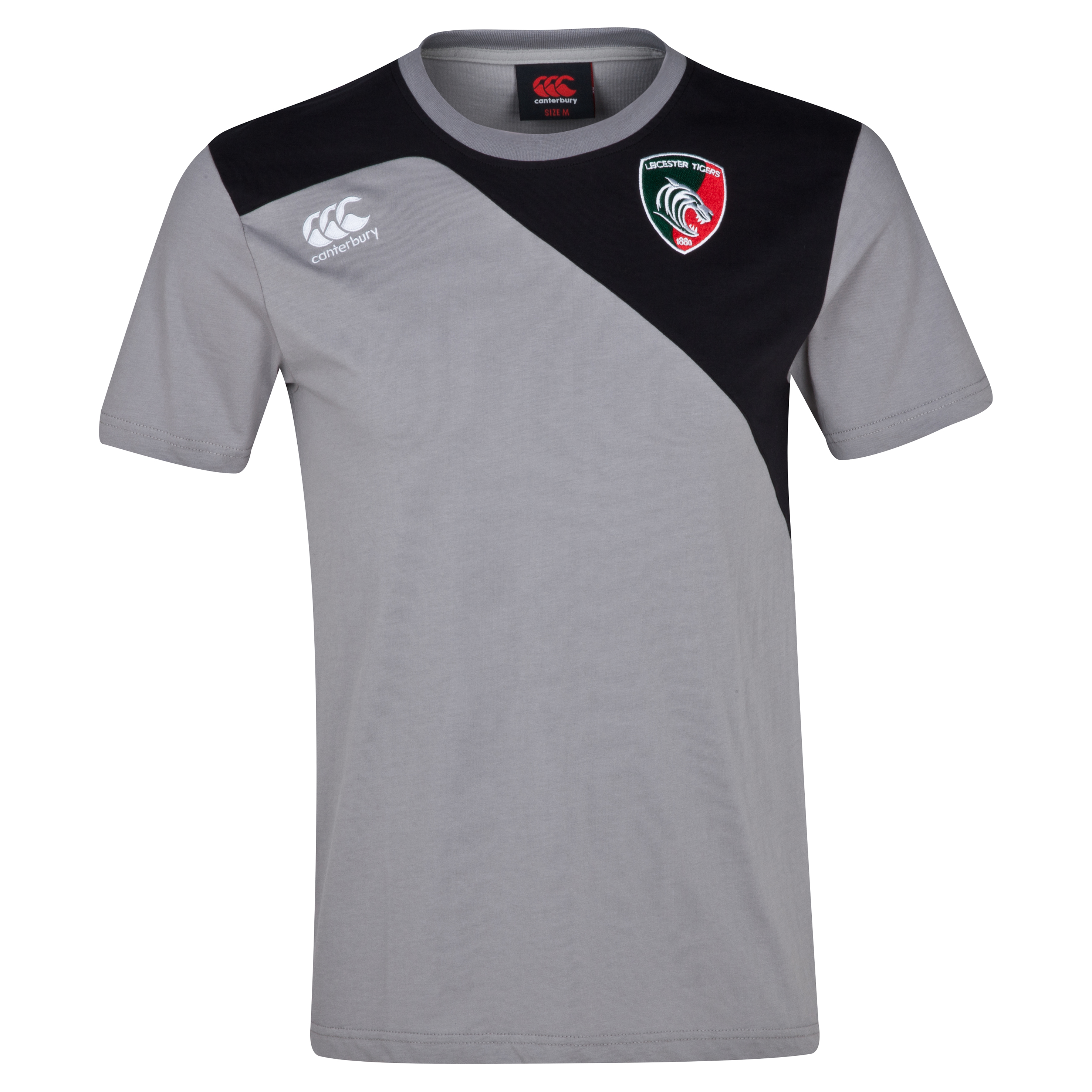 Leicester Tigers Core Cotton T-Shirt - Junior Lt Grey