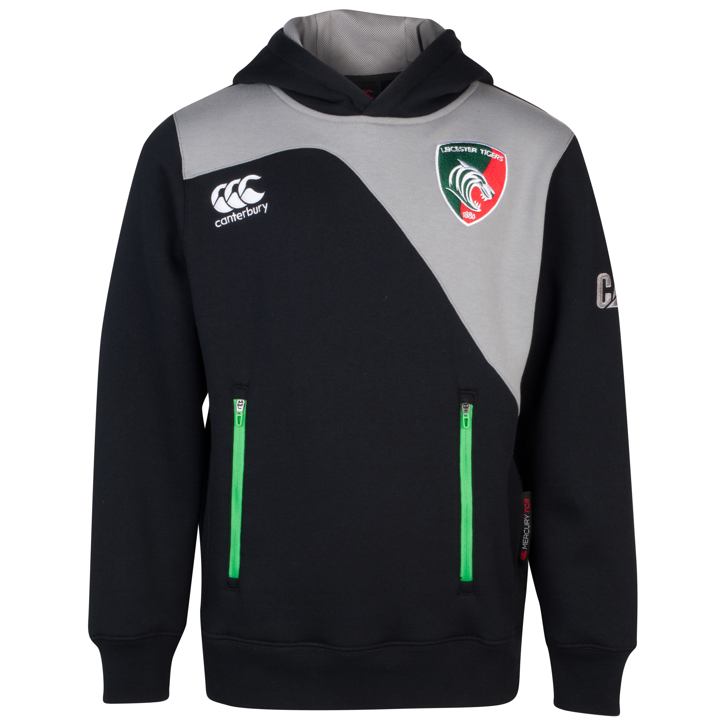 Leicester Tigers Tech Hoody - Junior Grey