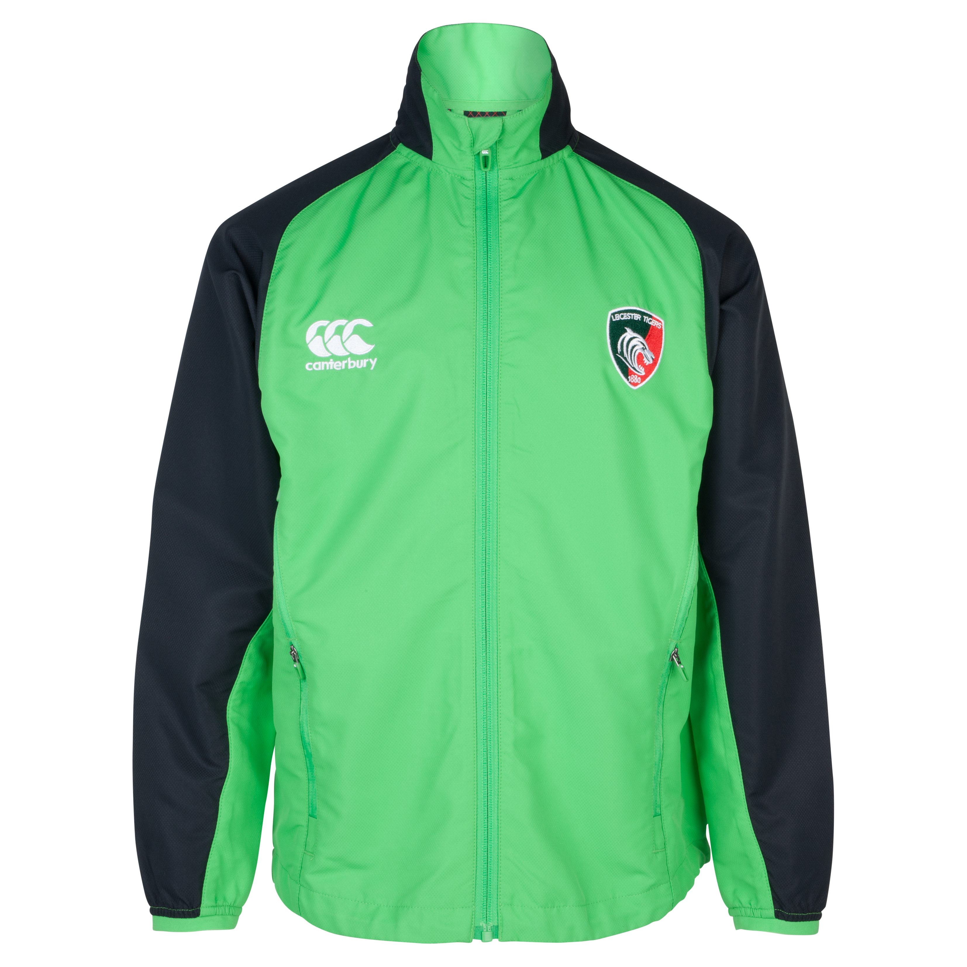Leicester Tigers Mercury Pro Tech Presentation Jacket - Junior Green
