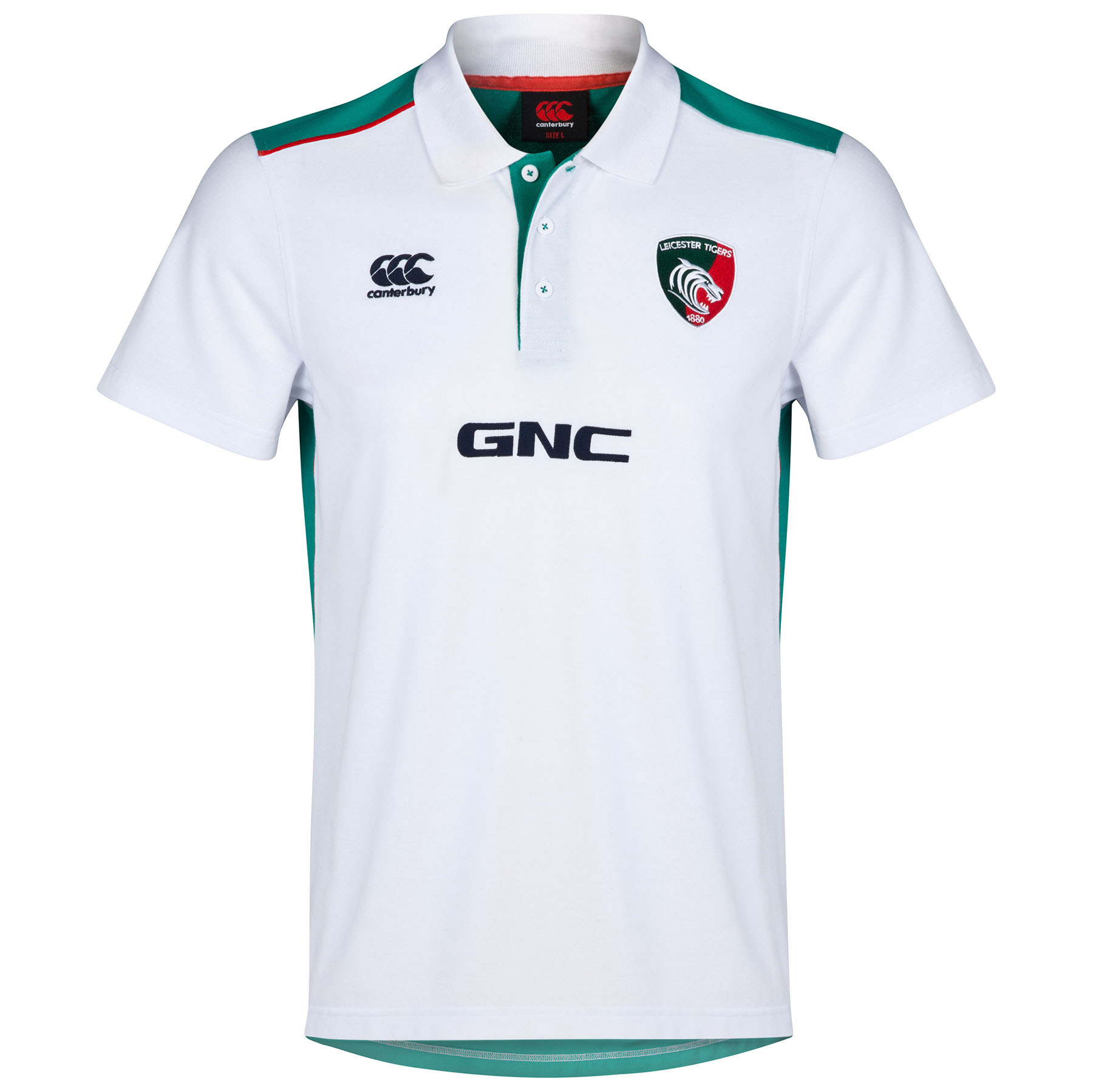 Leicester Tigers Cotton Training Polo White