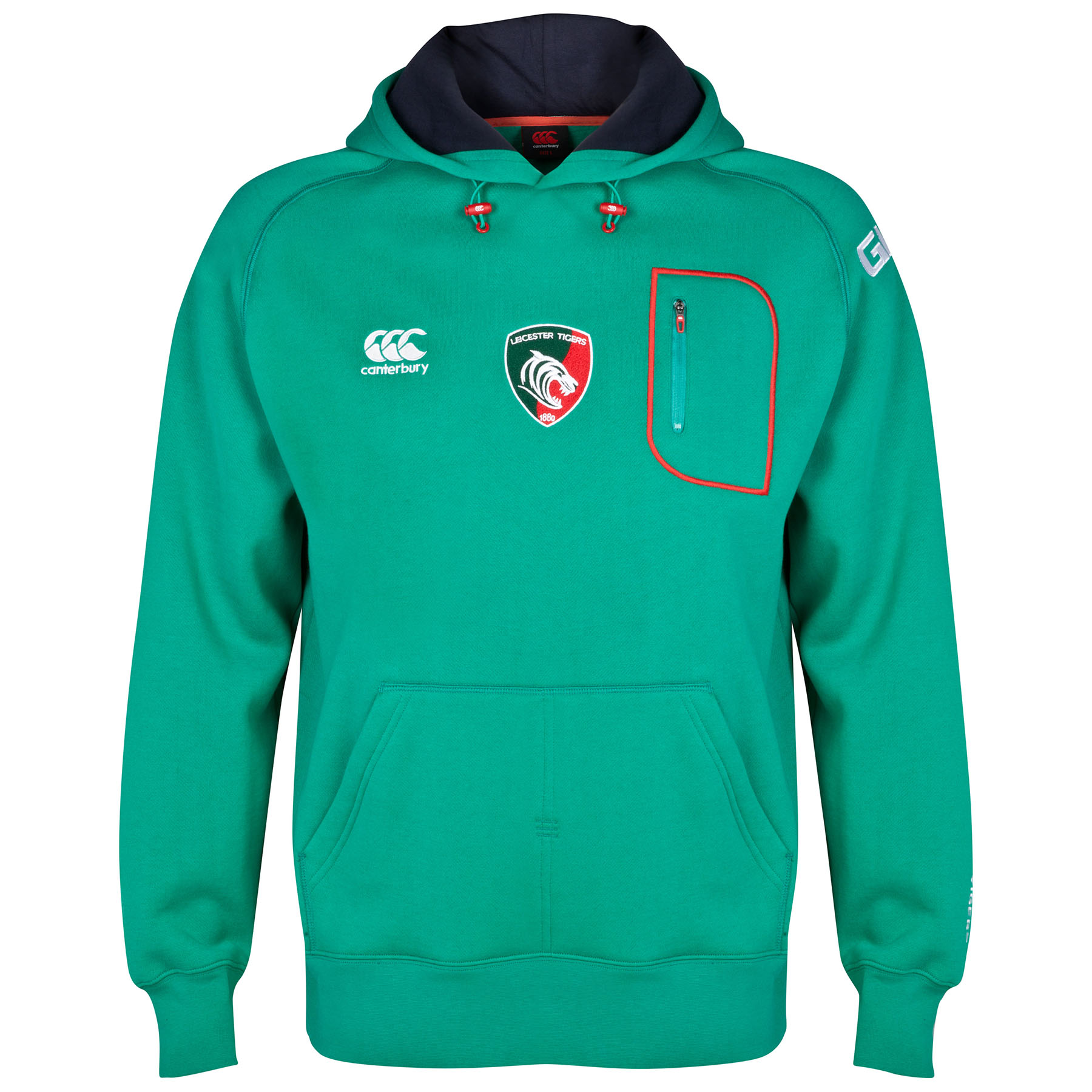 Leicester Tigers Training OTH Hoody Dk Green