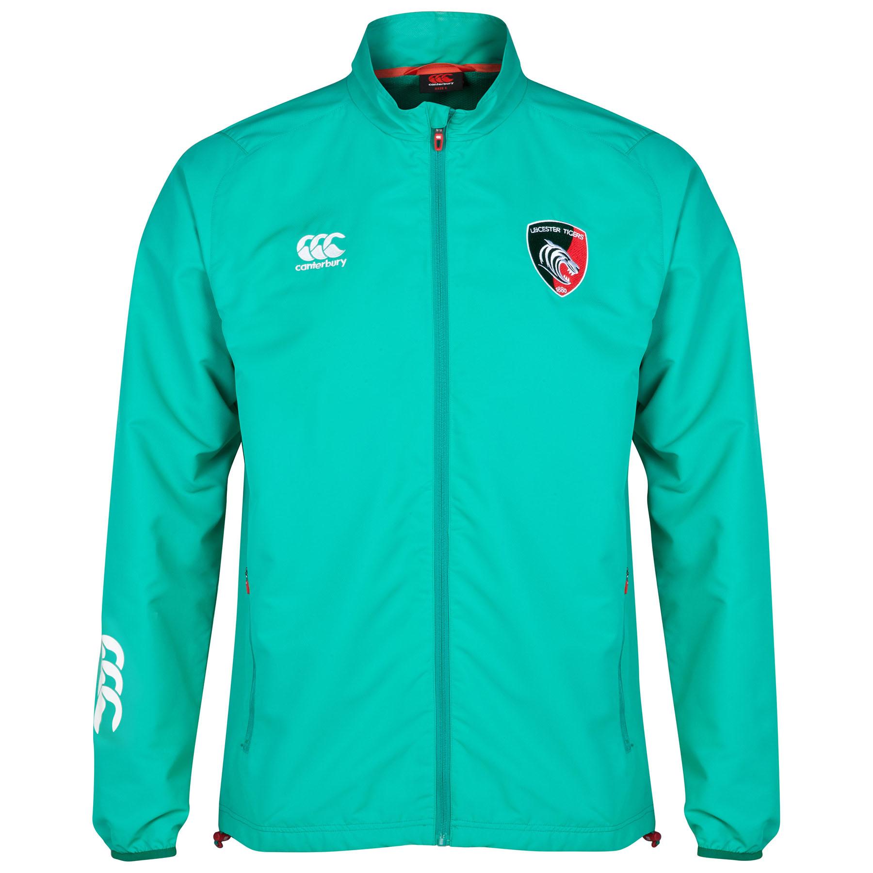 Leicester Tigers Presentation Jacket Dk Green