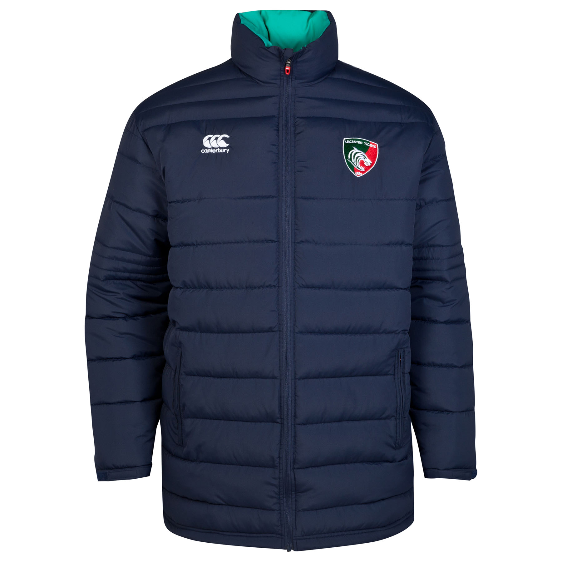 Leicester Tigers Padded Jacket Navy