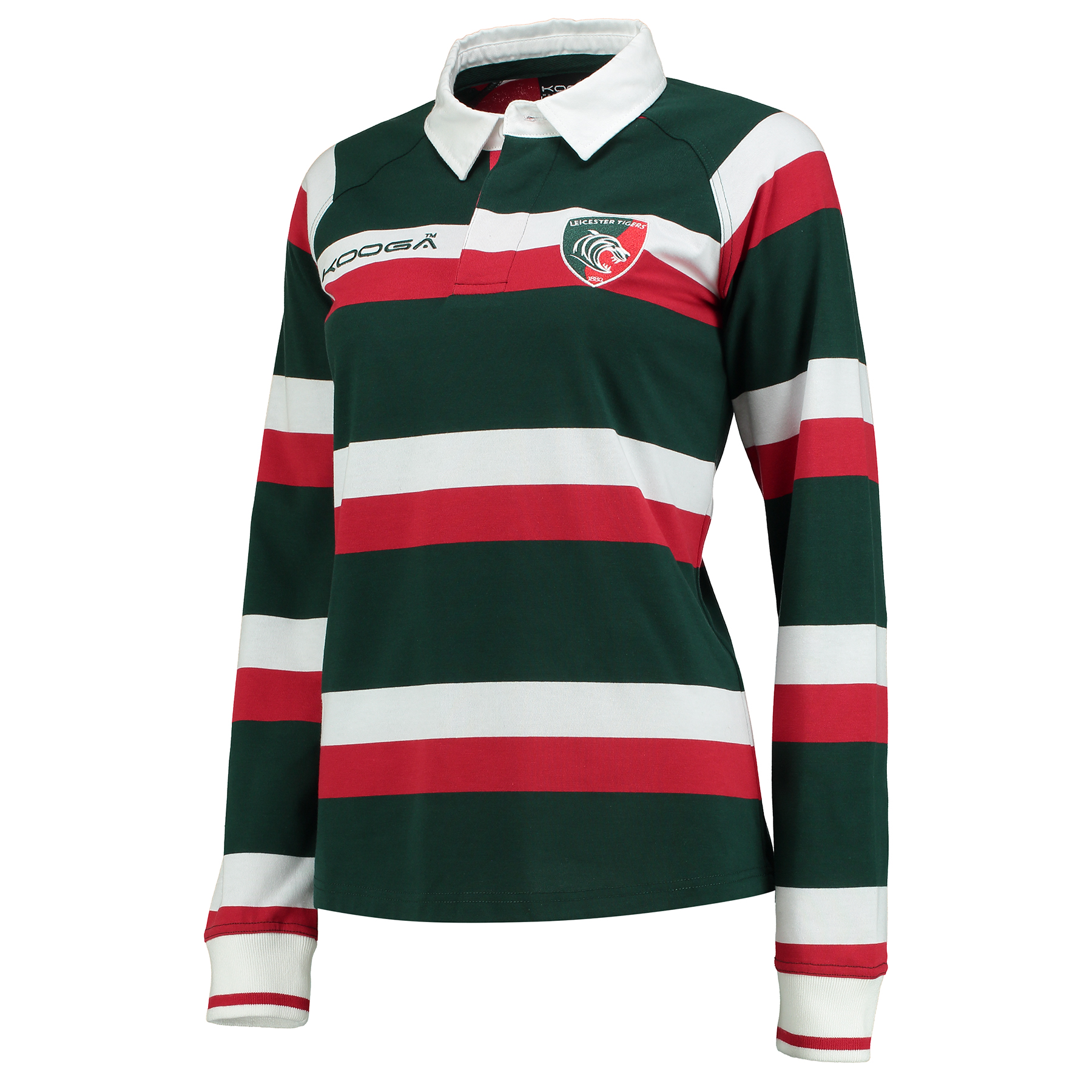 Leicester Tigers Home Classic Jersey Long Sleeve 2016/17 - Womens