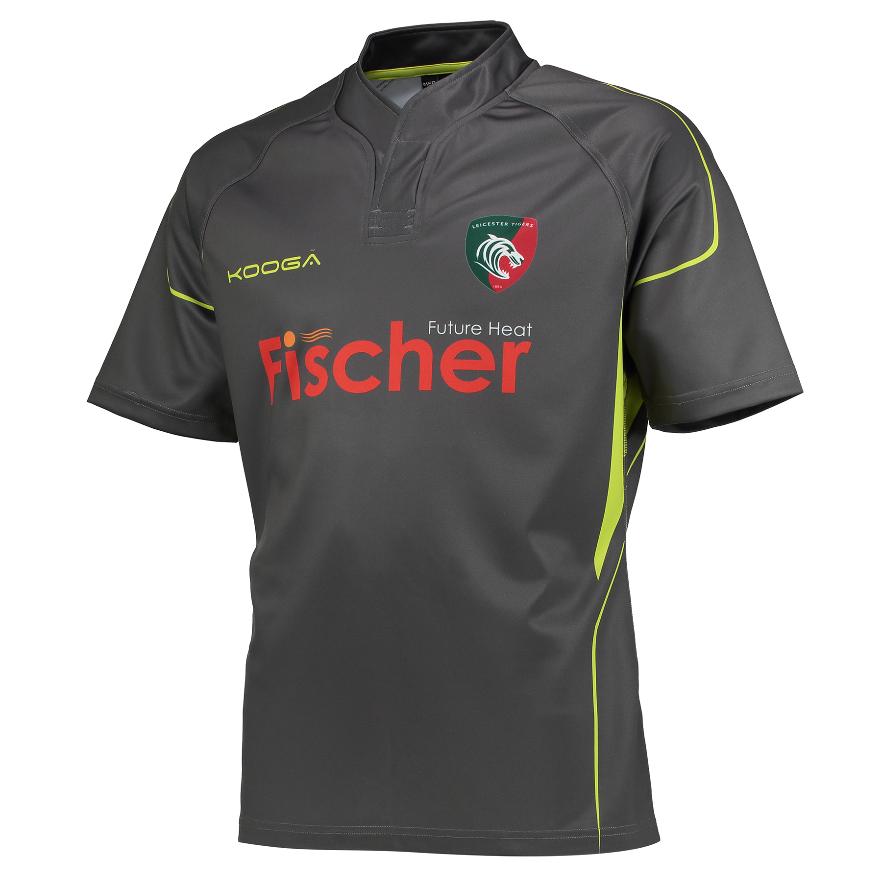 Leicester Tigers Training Rugby Jersey - Charcoal