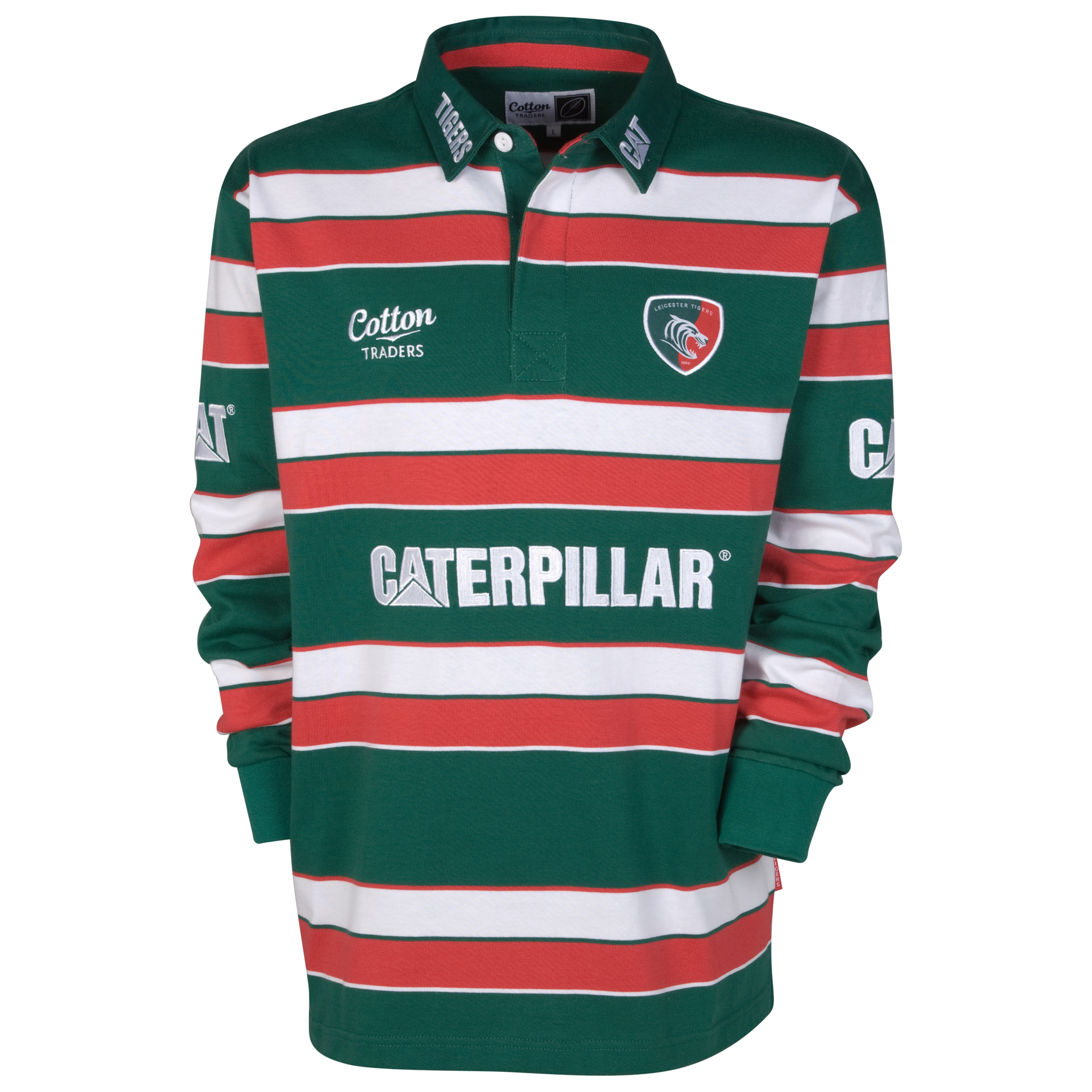 Leicester Tigers Home Shirt Long Sleeve 11/12