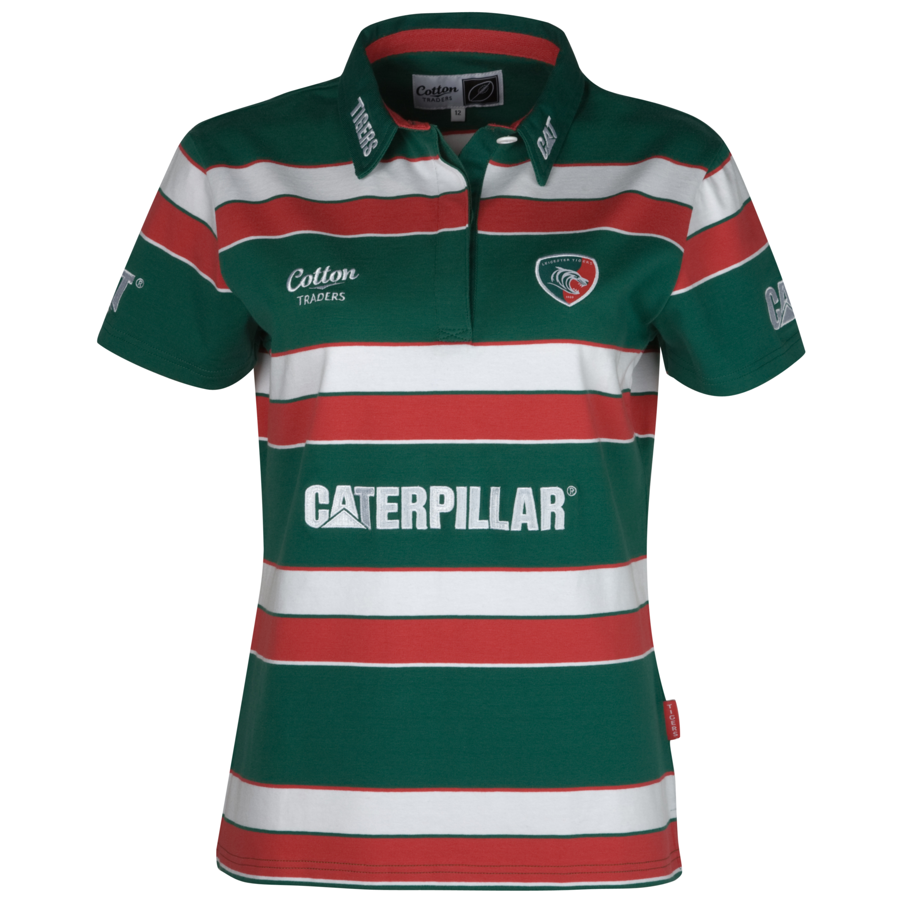 Leicester Tigers Home Shirt 11/12 - Short Sleeved - Womens. for 20€