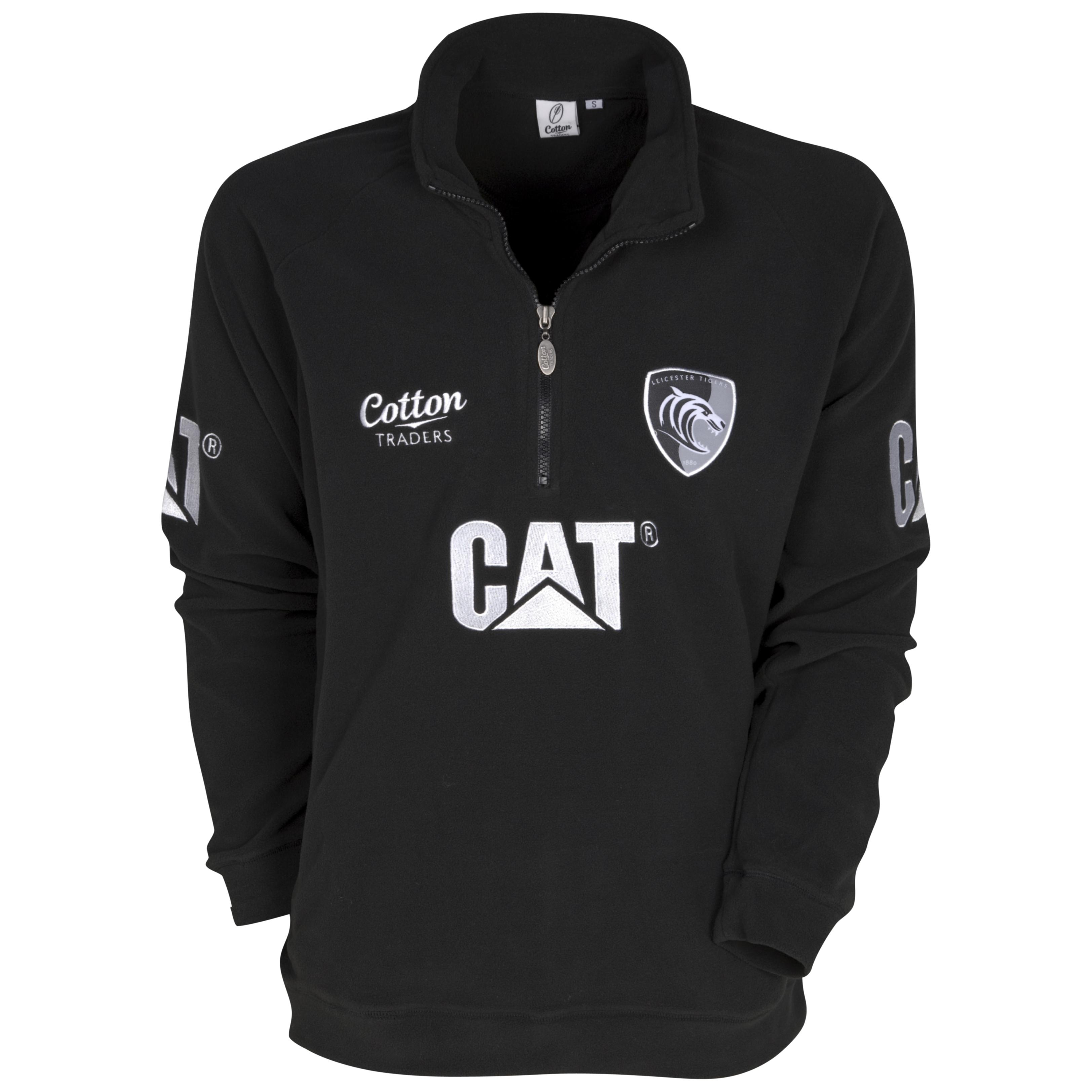Leicester Tigers Half Zip Fleece 11/12 - Black - Juniors. for 18€