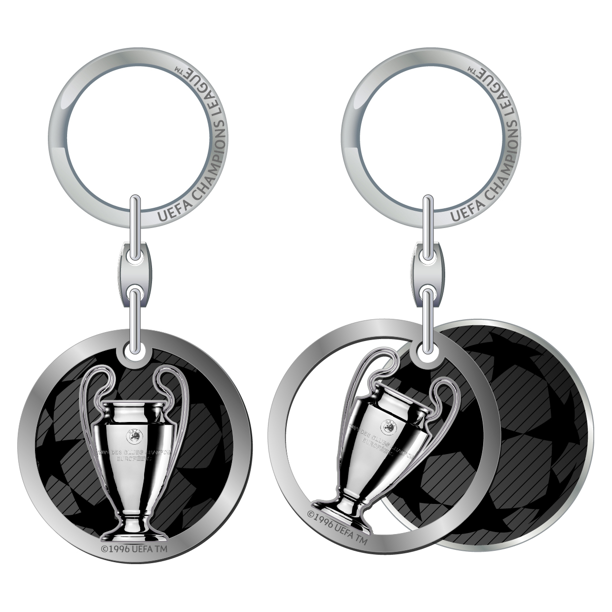 UEFA Champions League Trophy 2D Acrylic Key Ring