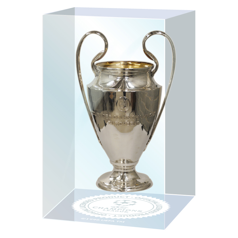 UEFA Champions League Trophy in Acrylic Embedment 45mm