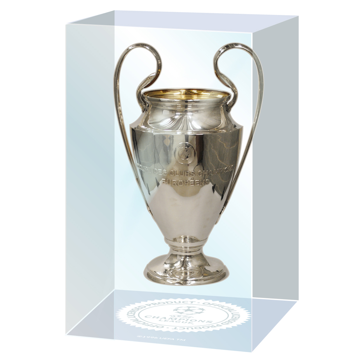 UEFA Champions League Trophy in Acrylic Embedment 70mm