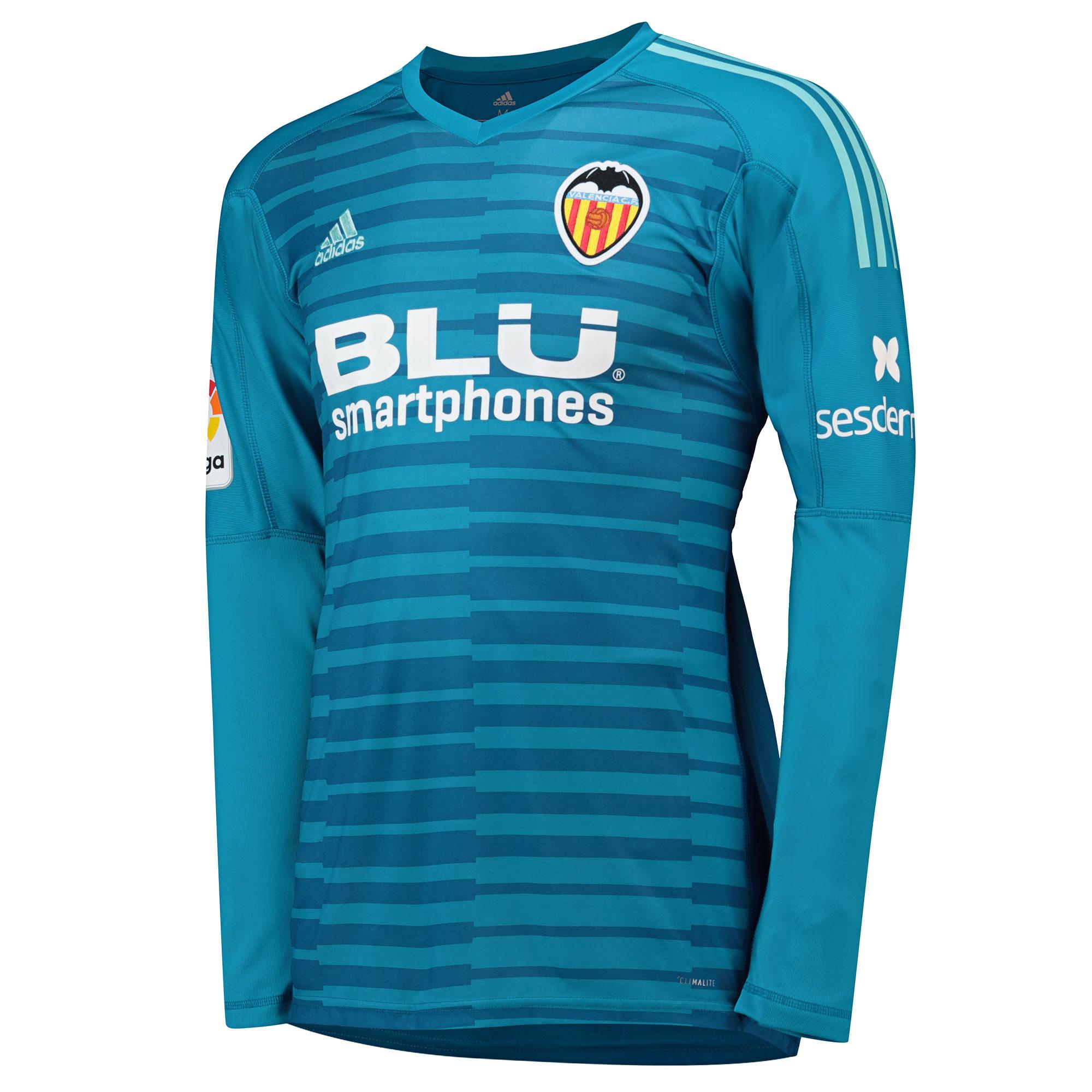 LS Valencia Goalkeeper 201819 adidas Home Shirt Mens OXZuTPki
