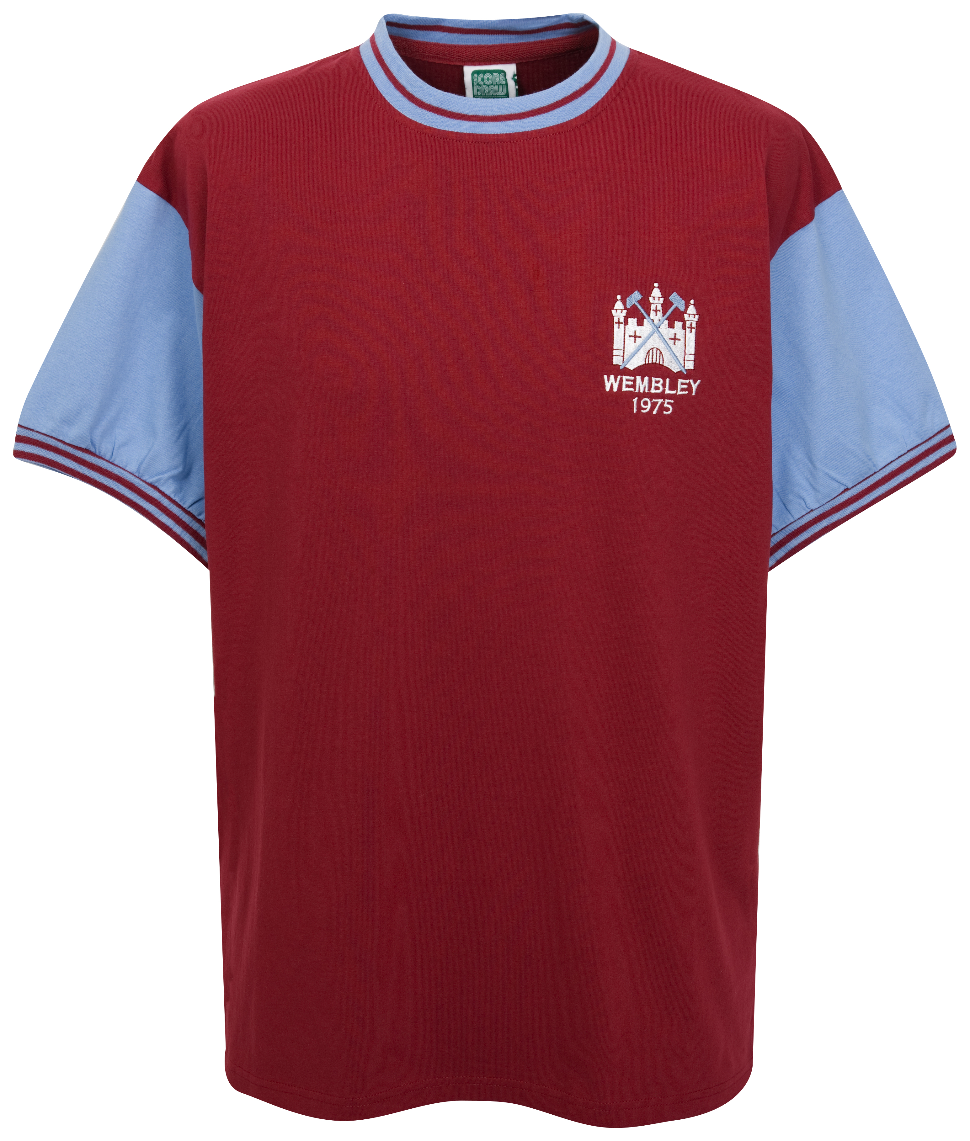 West Ham Utd 1975 FA Cup Final No.4 Shirt - Claret/Blue