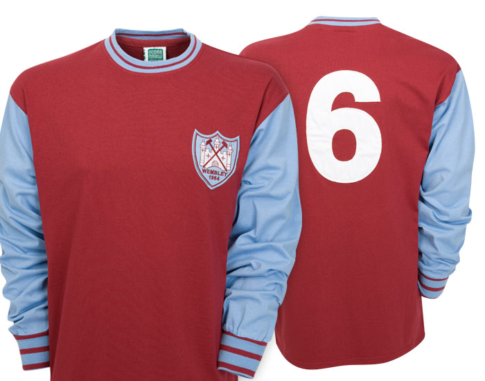 West Ham United 1964 FA Cup Final No.6 Shirt Claret/Blue