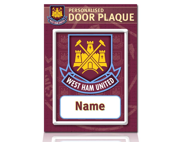 West Ham United Personalised Door Plaques