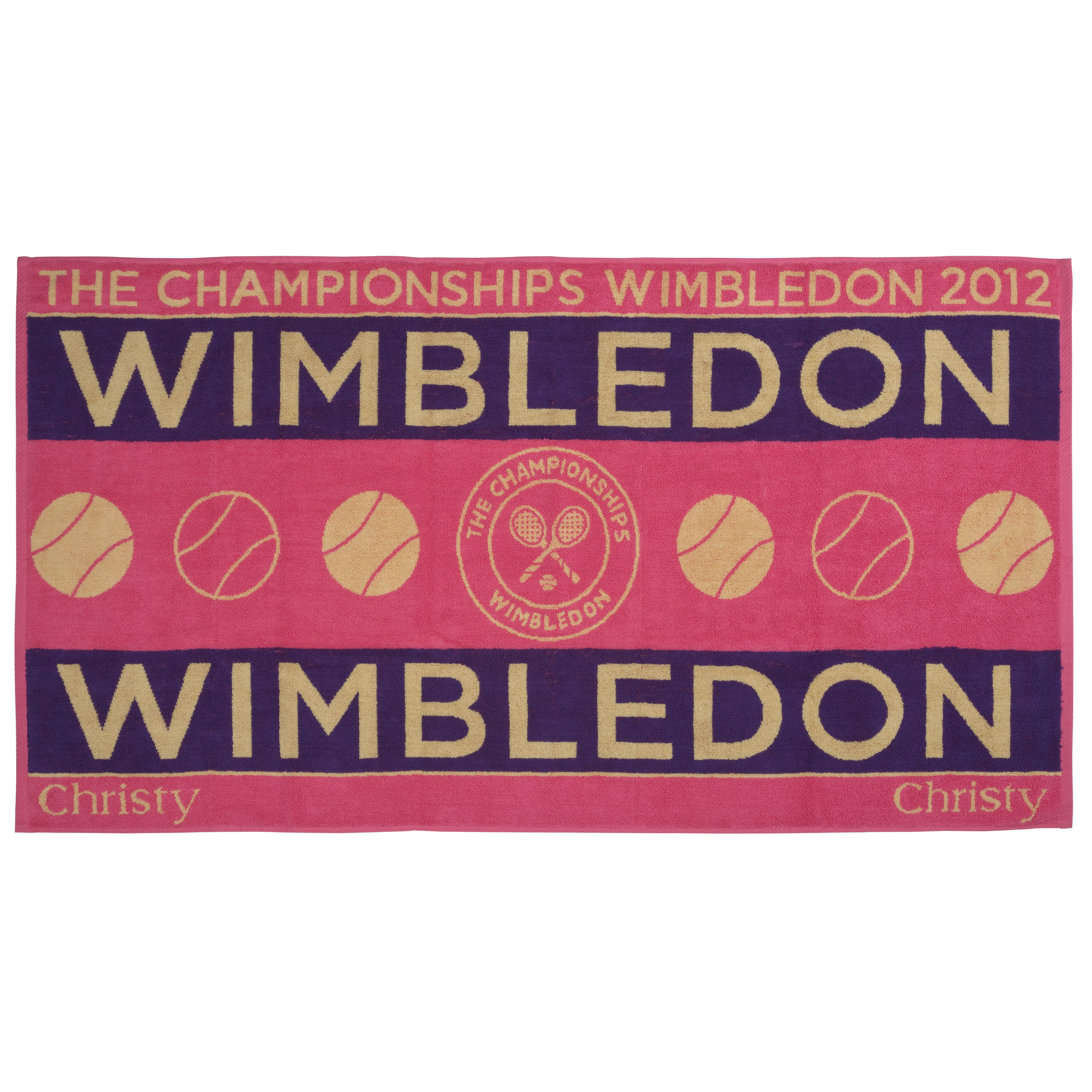 Wimbledon Ladies Championships Towel 2012 - Raspberry/Purple