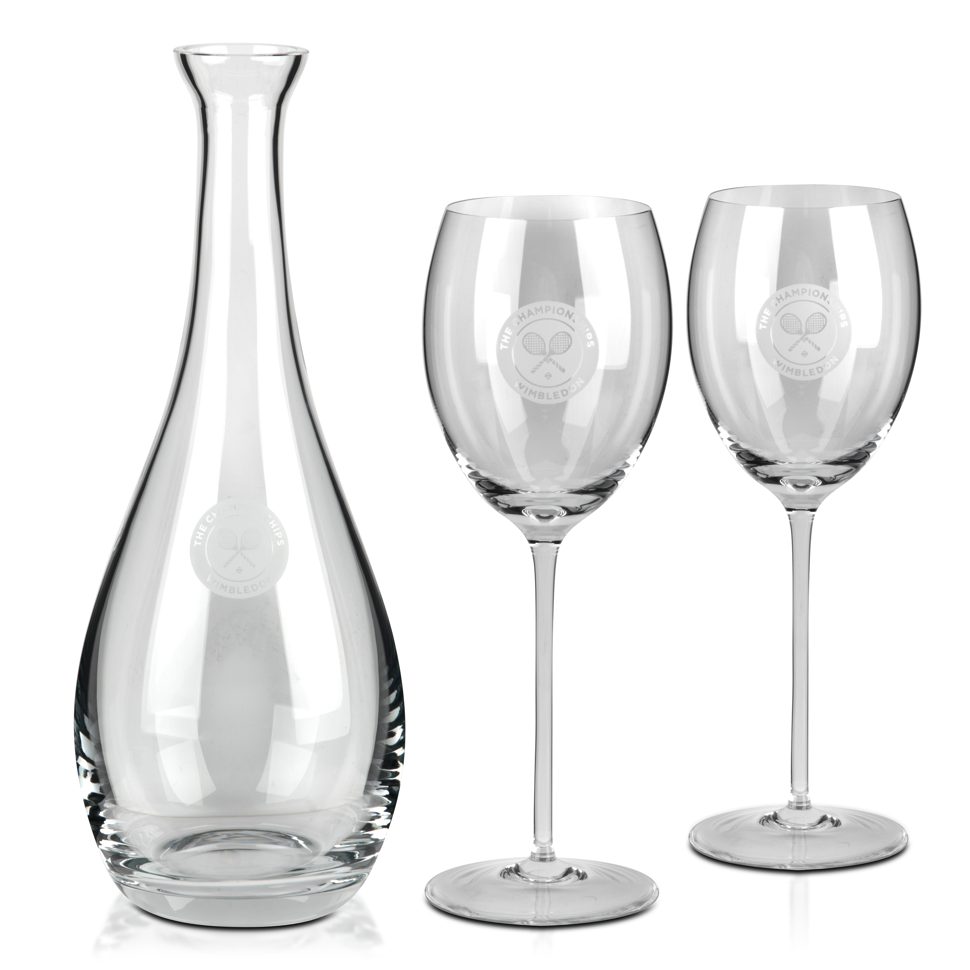 Wimbledon 2012 Crystal Decanter and Wine Set