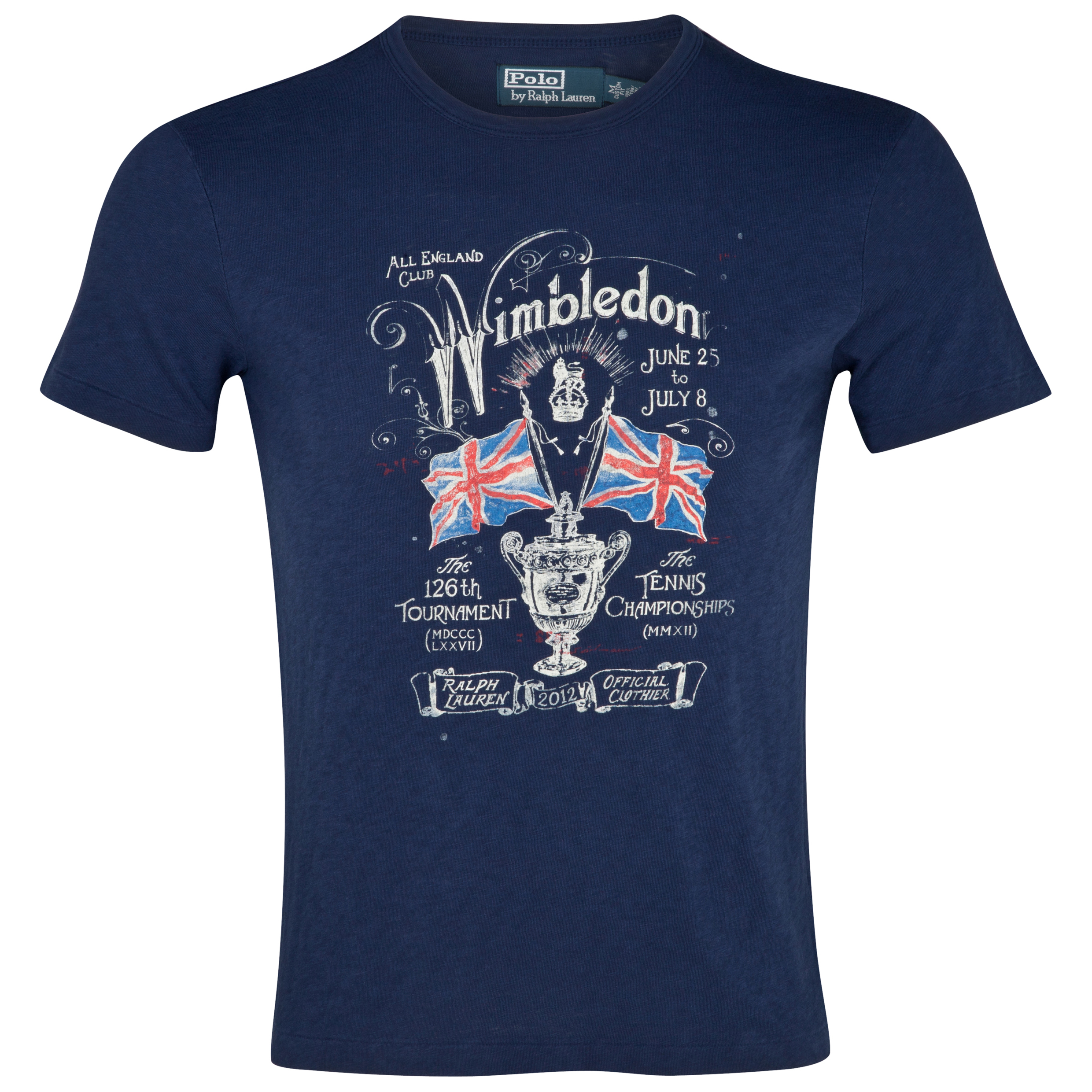 Polo Ralph Lauren Wimbledon Jersey Printed T-Shirt - French Navy