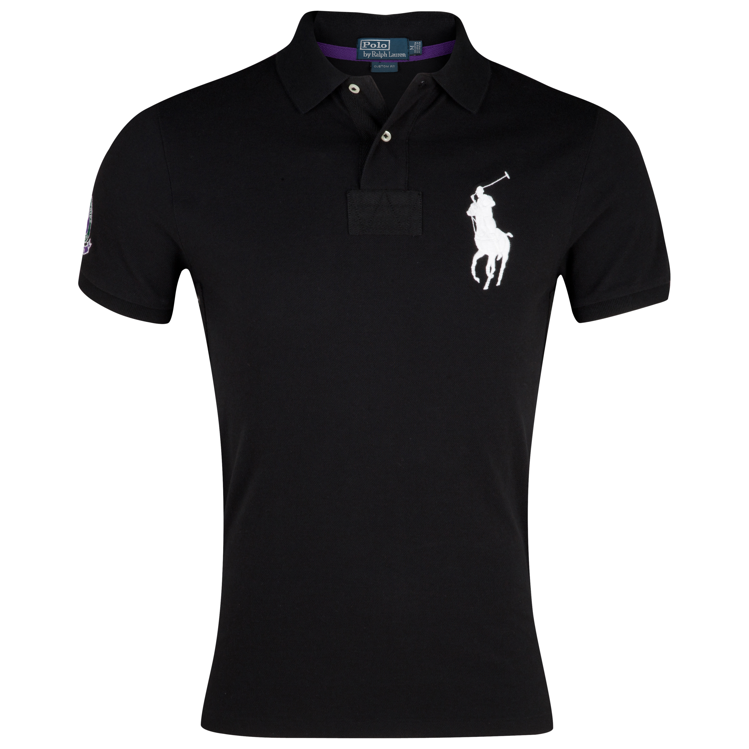 Polo Ralph Lauren Wimbledon Short Sleeve Polo - Black