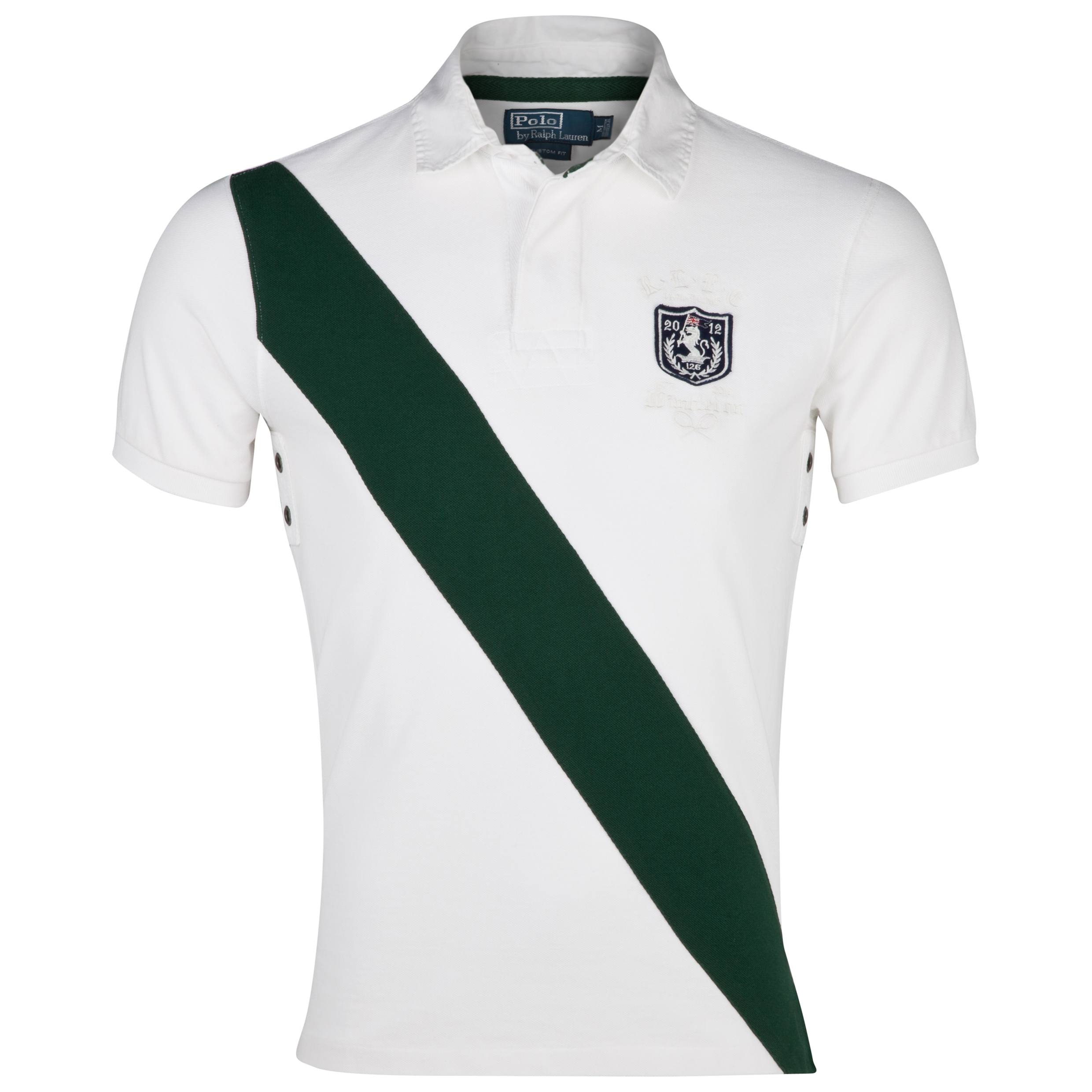 Polo Ralph Lauren Wimbledon Short Sleeve Rugby Polo - Classic Oxford White