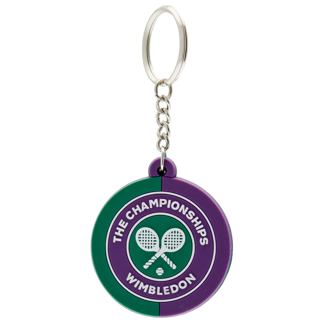 Wimbledon 2 Tone Logo Key Ring - Purple/Green