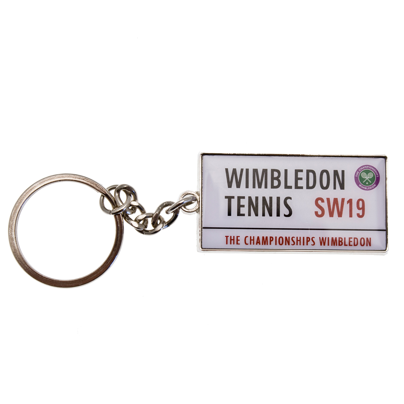 Wimbledon Street Sign Key Ring