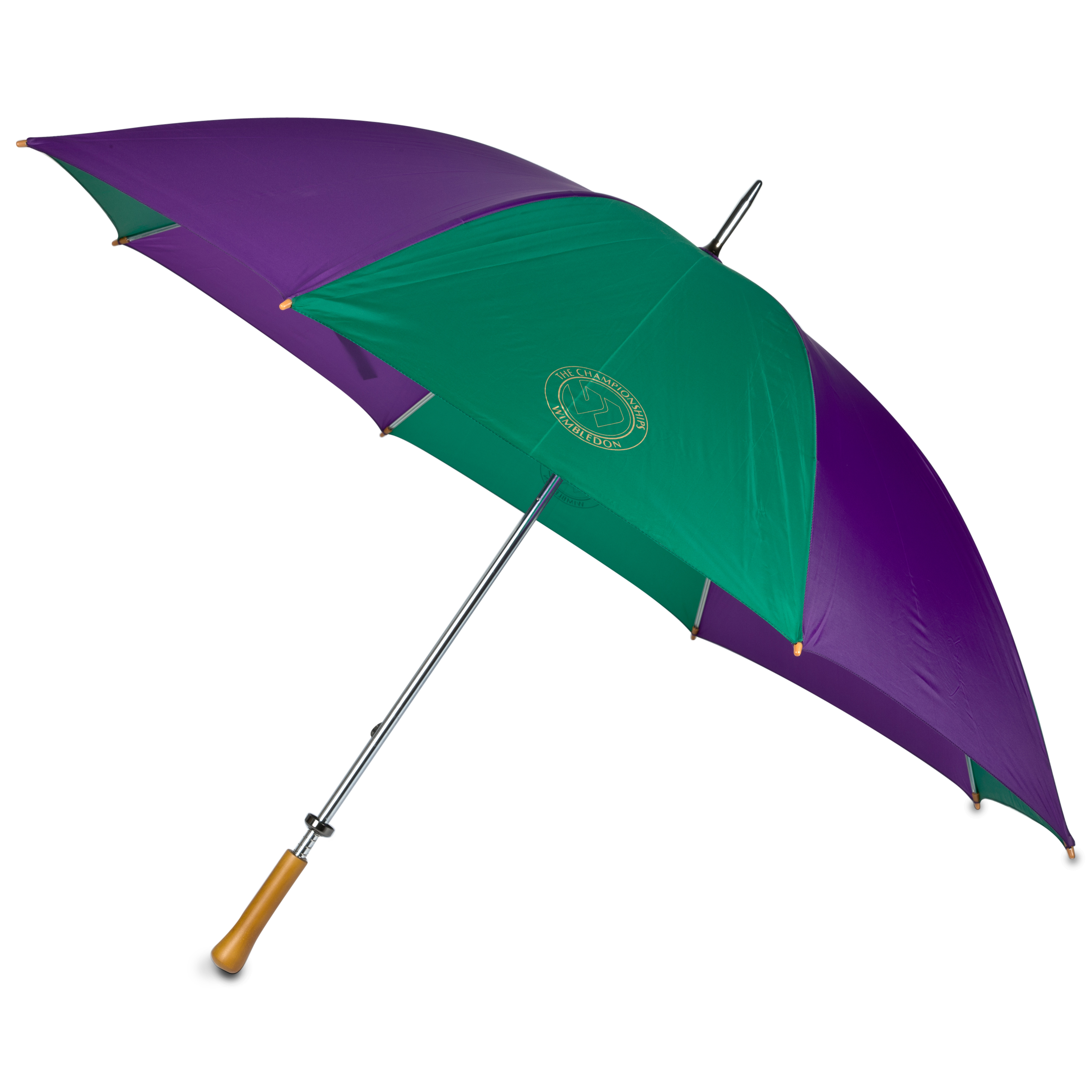 Wimbledon Large Umbrella - Purple/Green