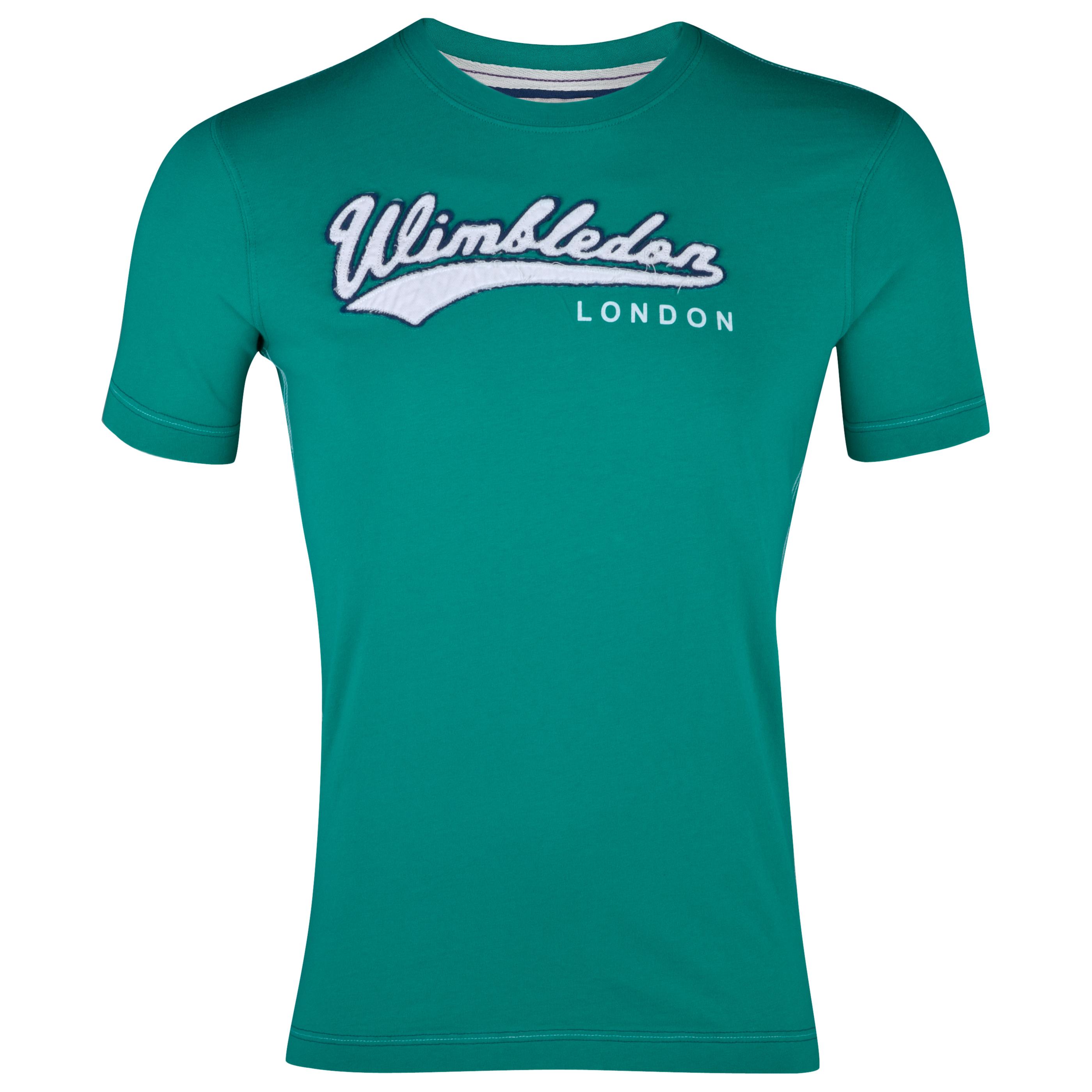 Wimbledon Applique Word T-Shirt - Green