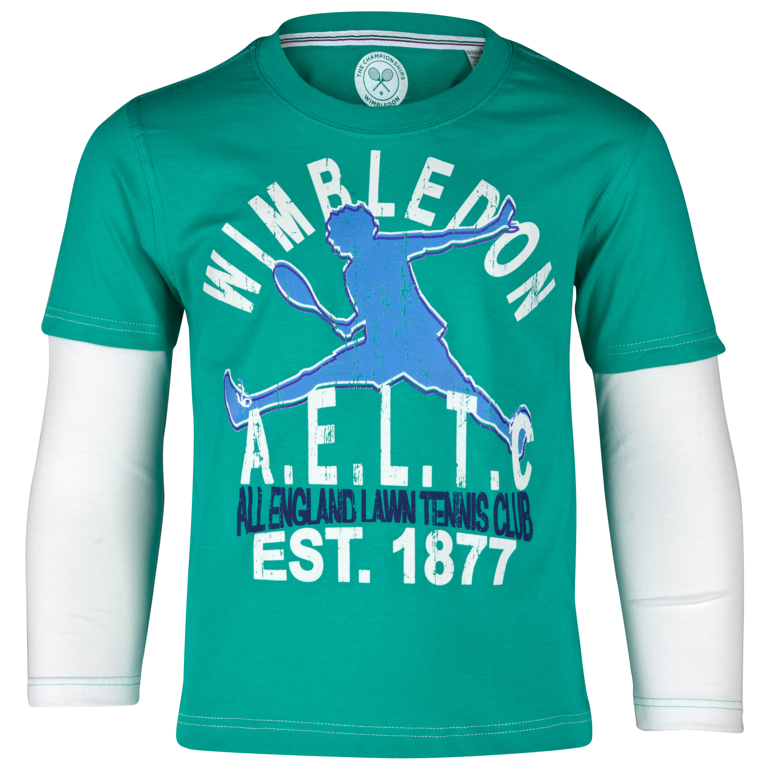 Wimbledon Long Sleeve T-Shirt - Green - Boys
