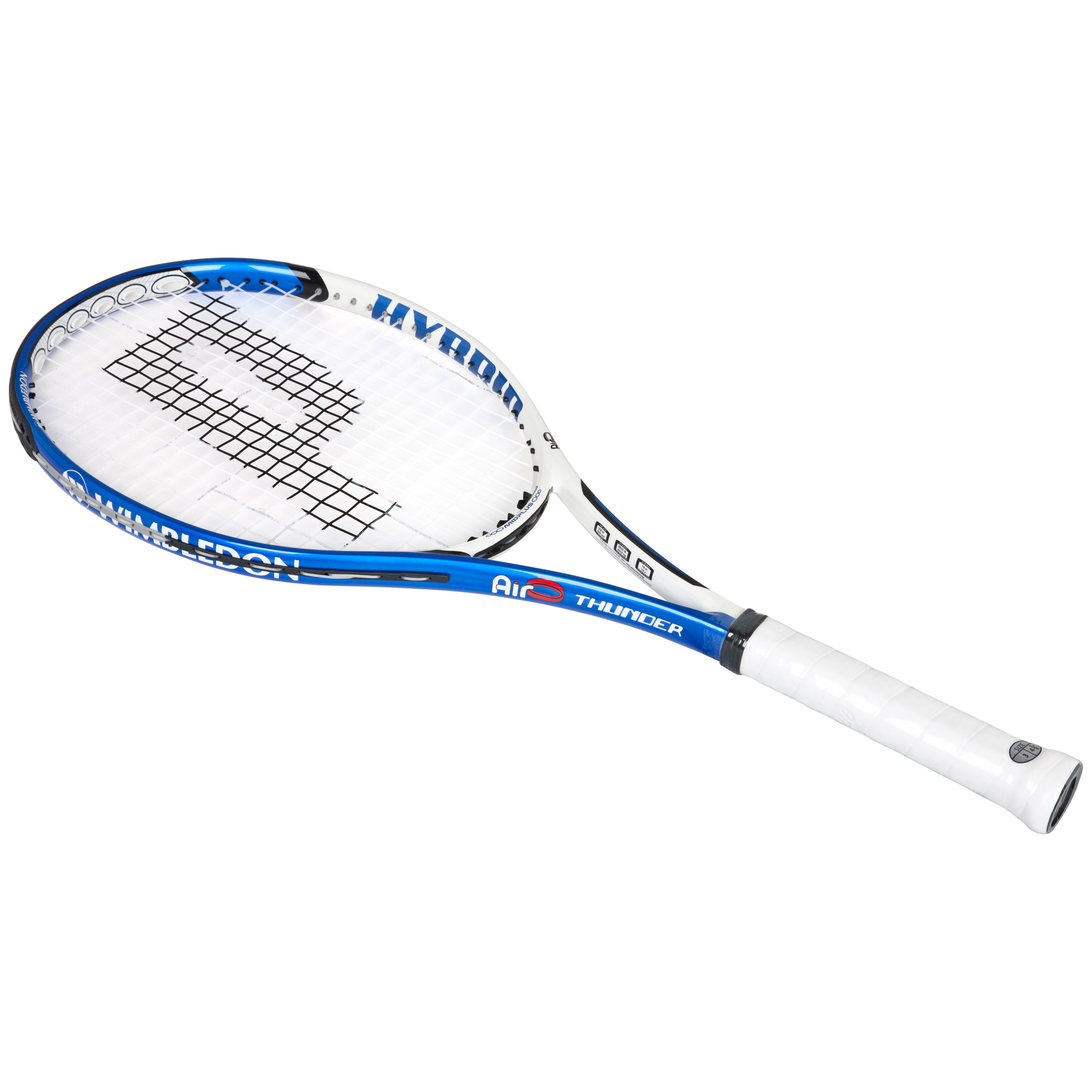 Wimbledon By Prince Airo Hybrid Thunder Tennis Racket - Blue/White