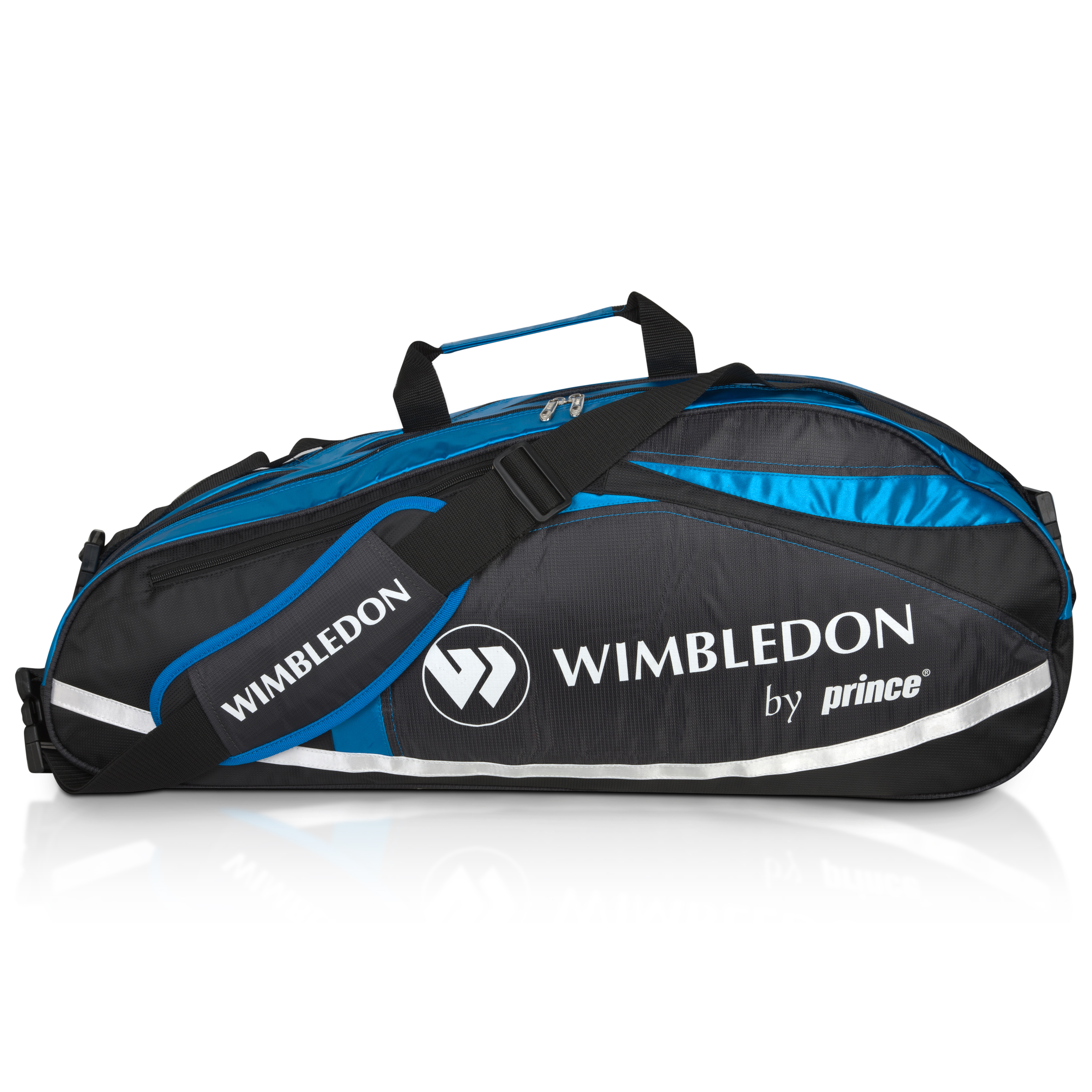 Wimbledon By Prince Championship II 6 Racket Thermal - Black/Blue