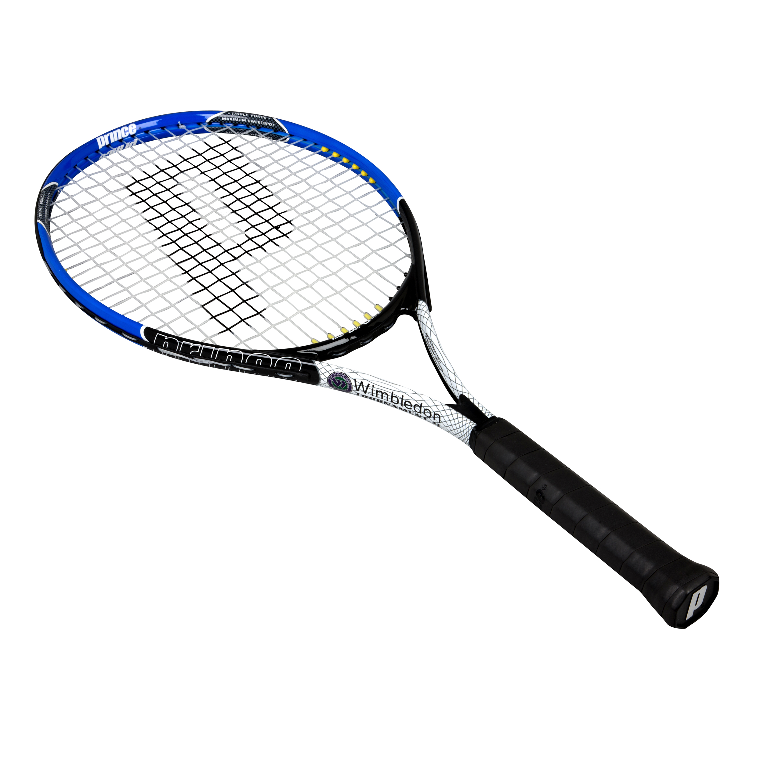 Wimbledon By Prince Tournament Tennis Racket - Blue/White/Black