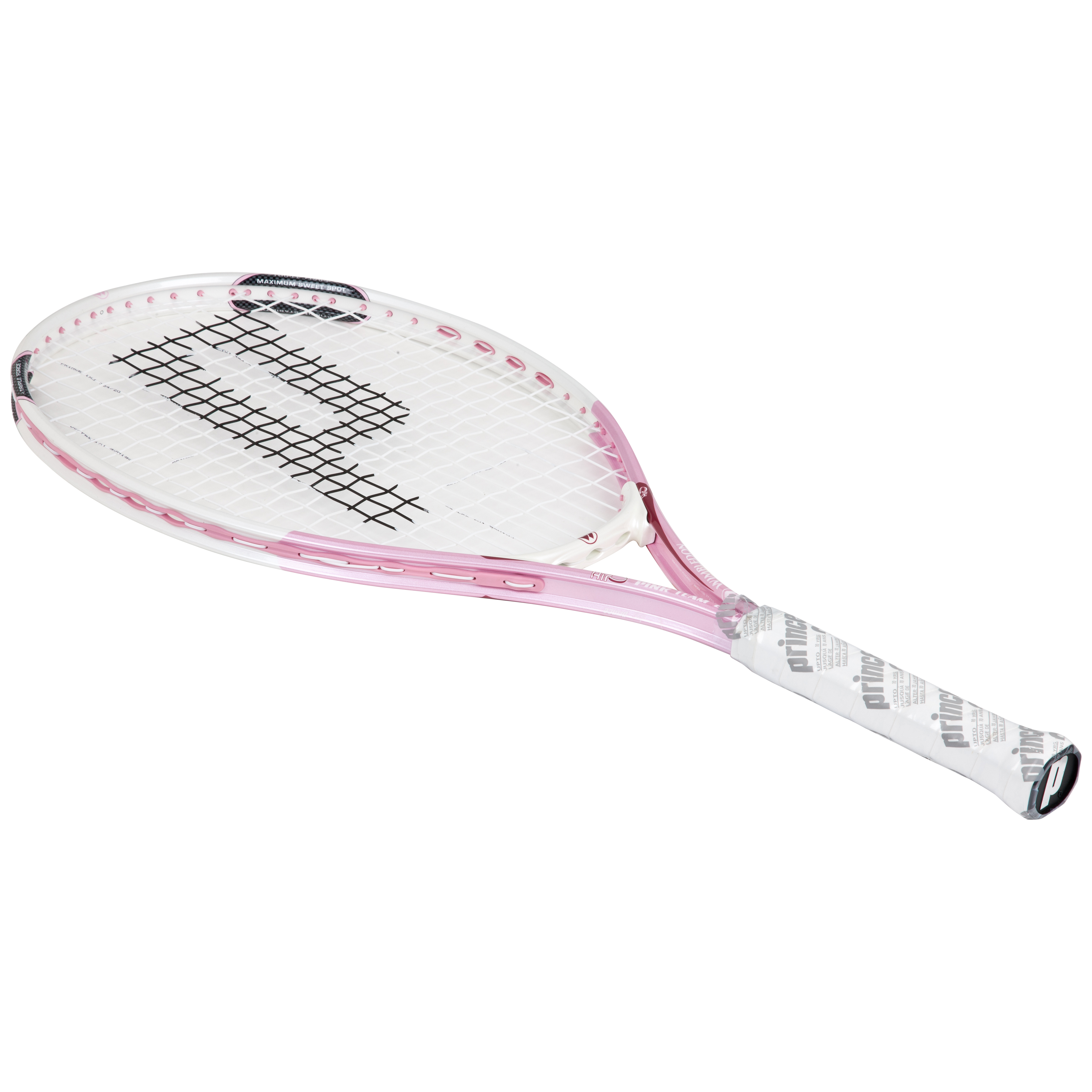 Wimbledon By Prince Airo Pink Team 25 Tennis Racket - White/Pink