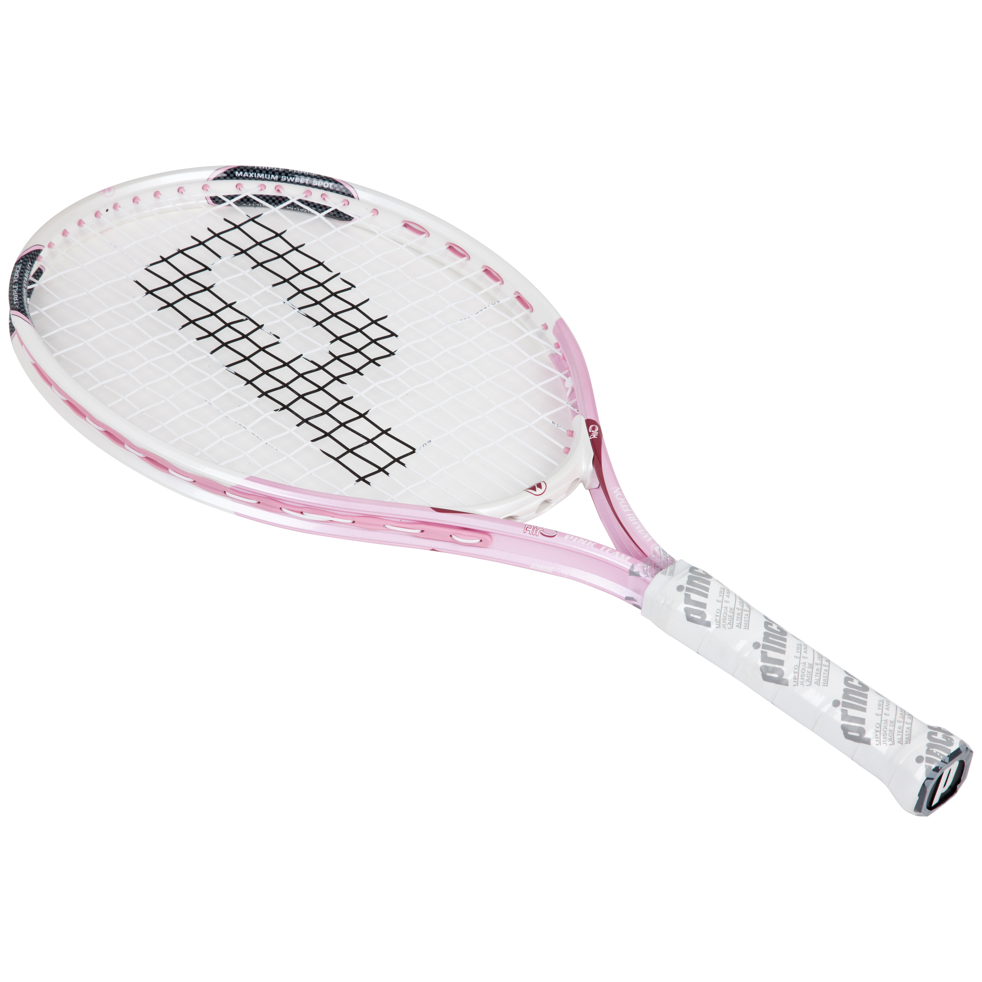 Wimbledon By Prince Airo Pink Team 21 Tennis Racket - White/Pink